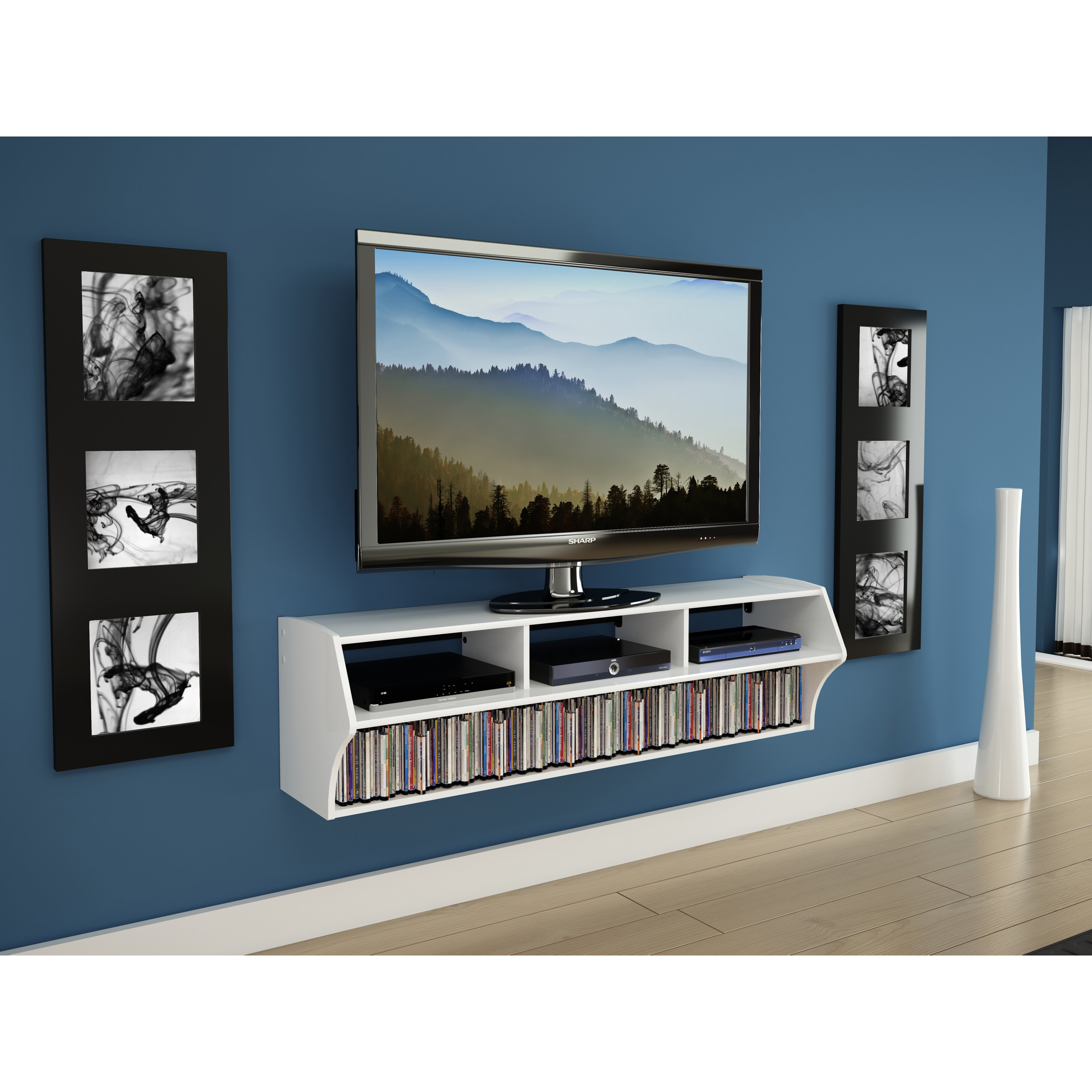60 inch corner tv stand - Reuben Wall Mounted Tv Stand