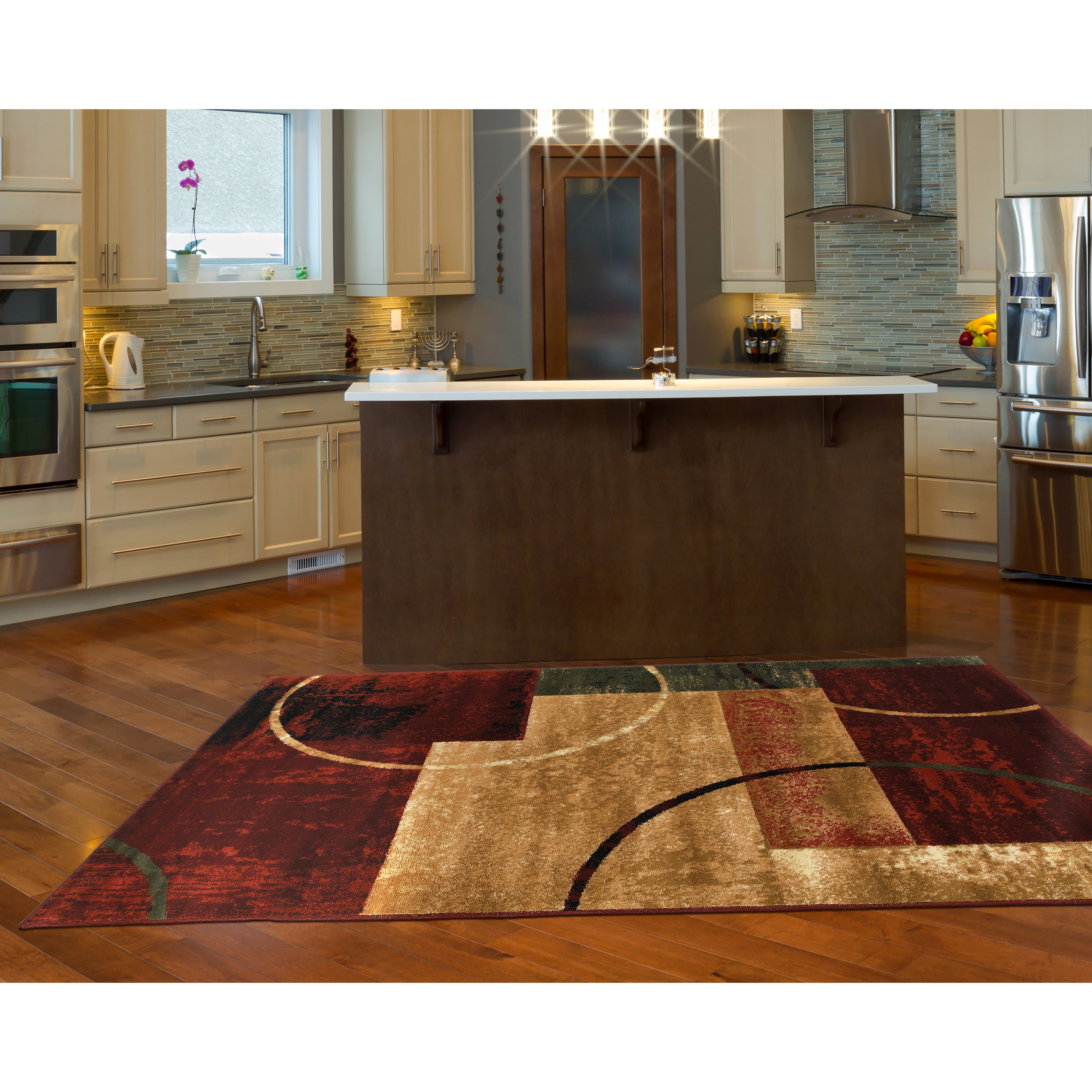 Red And Gold Kitchen Andover Mills Eileen Red And Gold Area Rug Reviews Wayfair