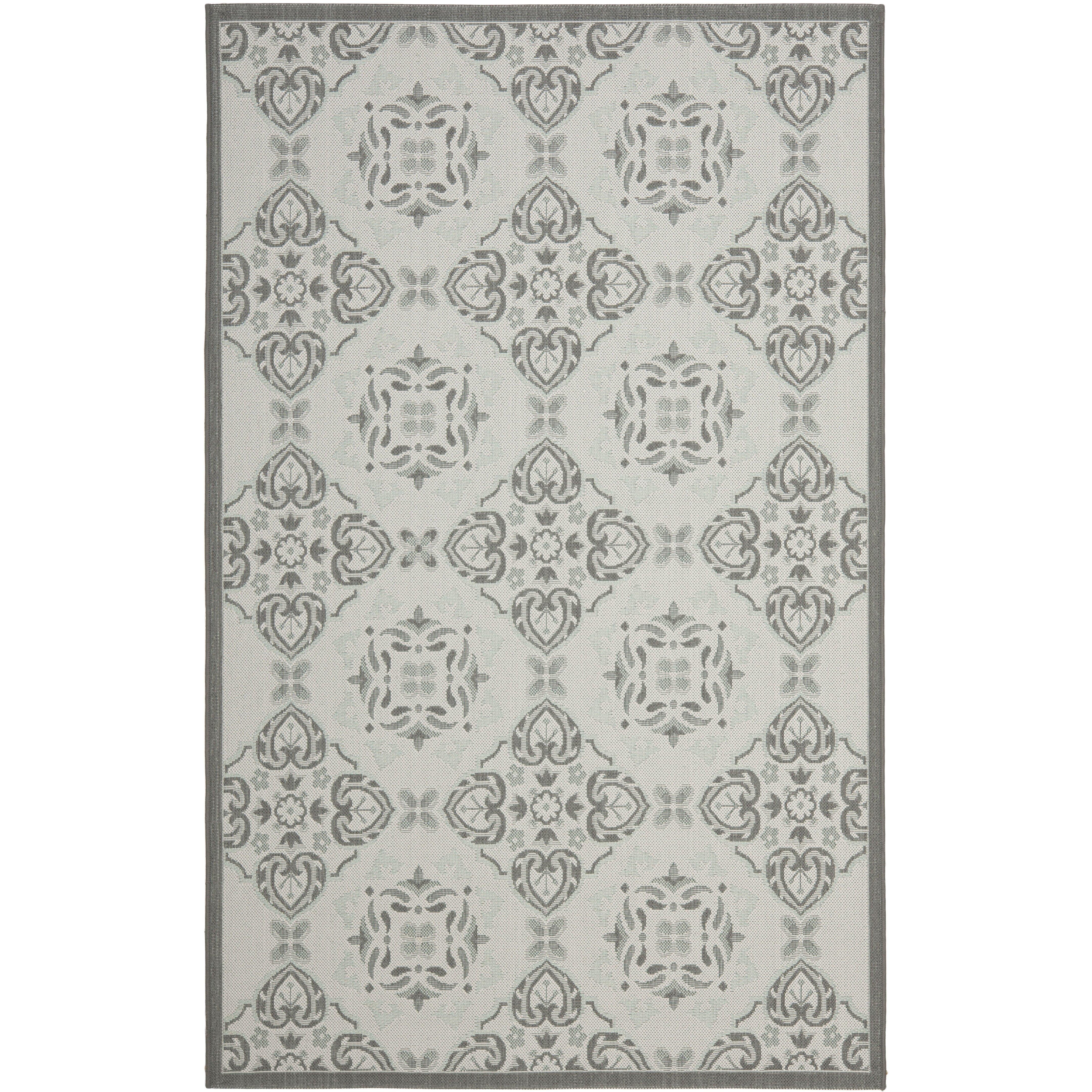 grey outdoor rug