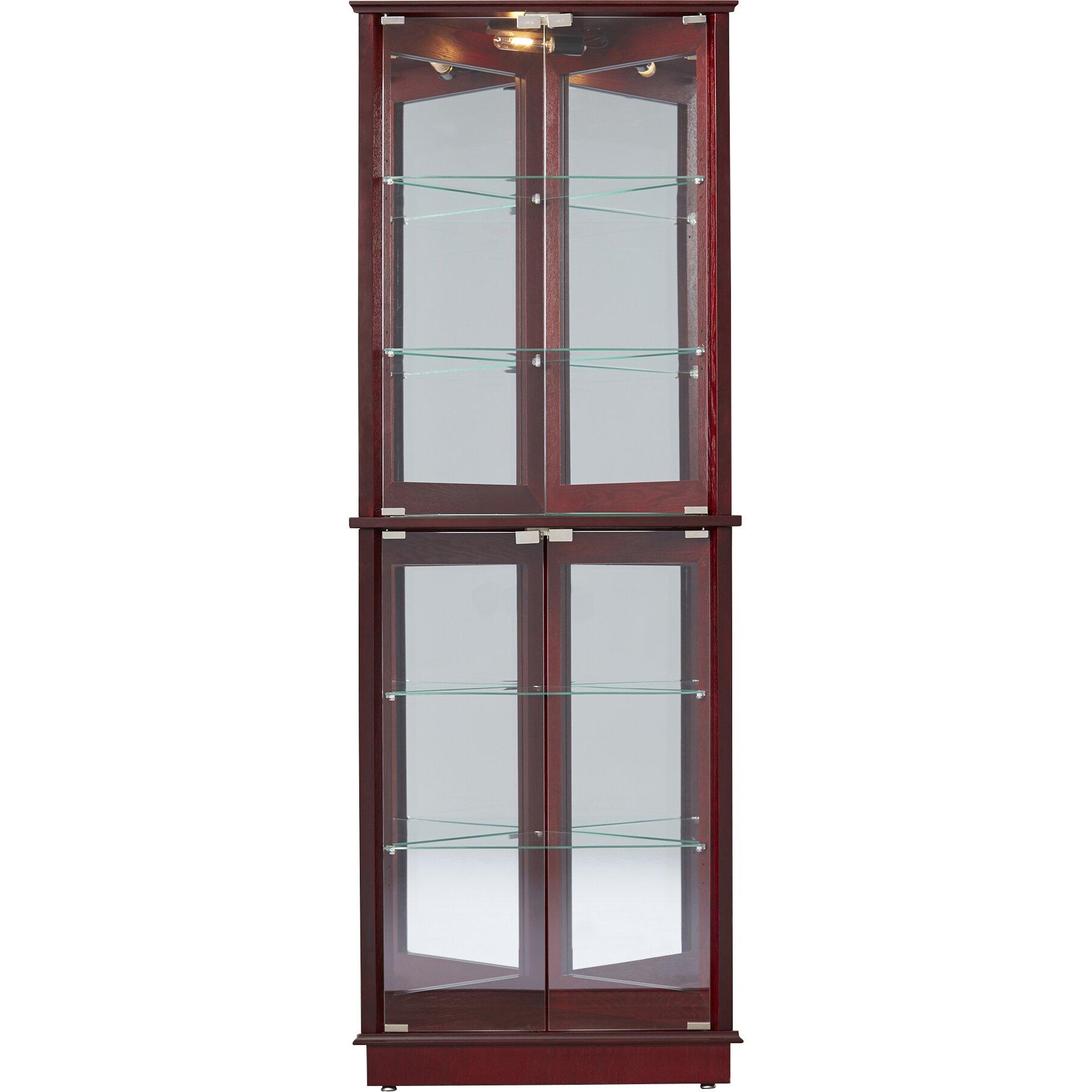 Corner Kitchen Curio Cabinet Andover Mills Randalstown Corner Curio Cabinet Reviews Wayfair