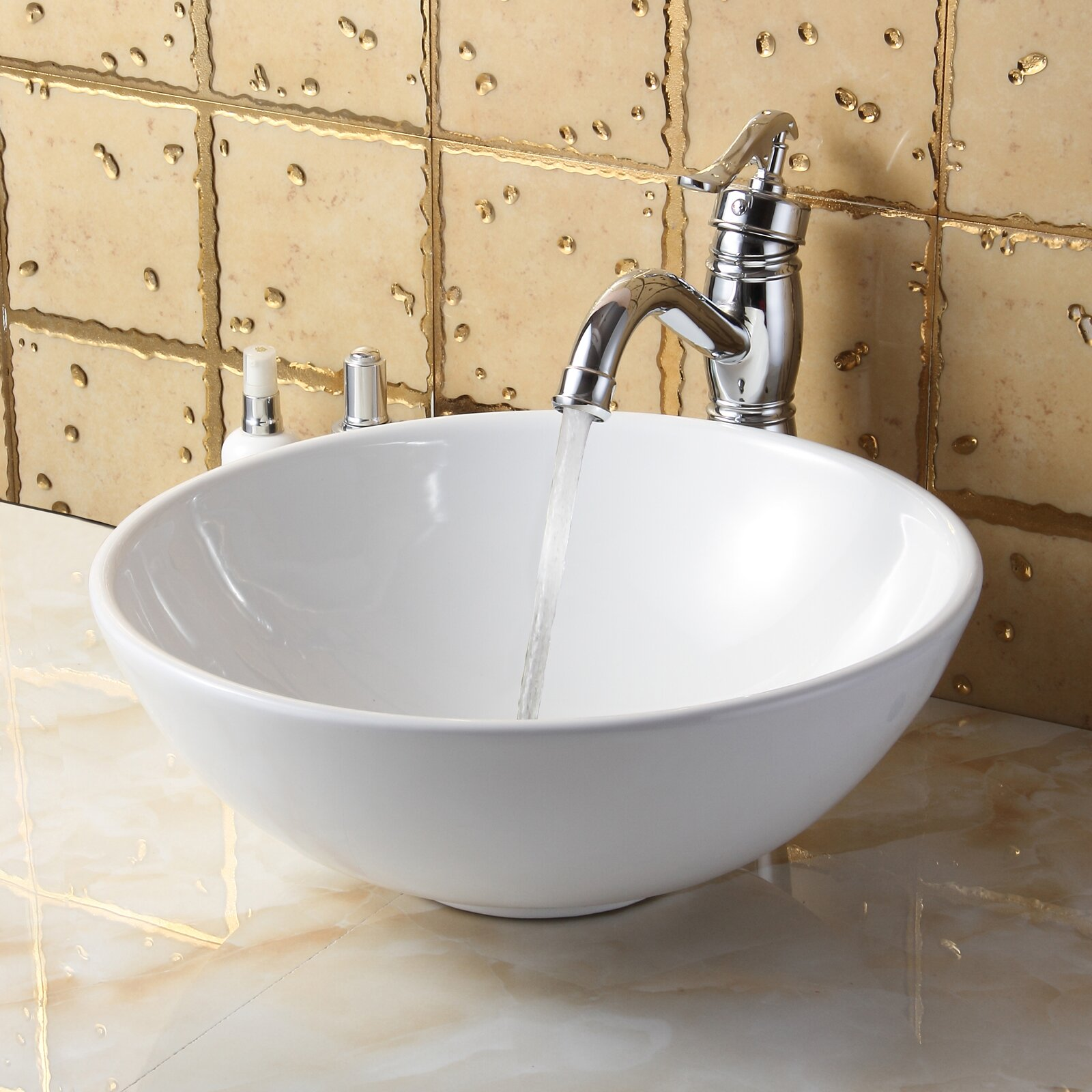 Elite Bathroom Sinks : Elite Ceramic Round Bathroom Sink & Reviews Wayfair Supply