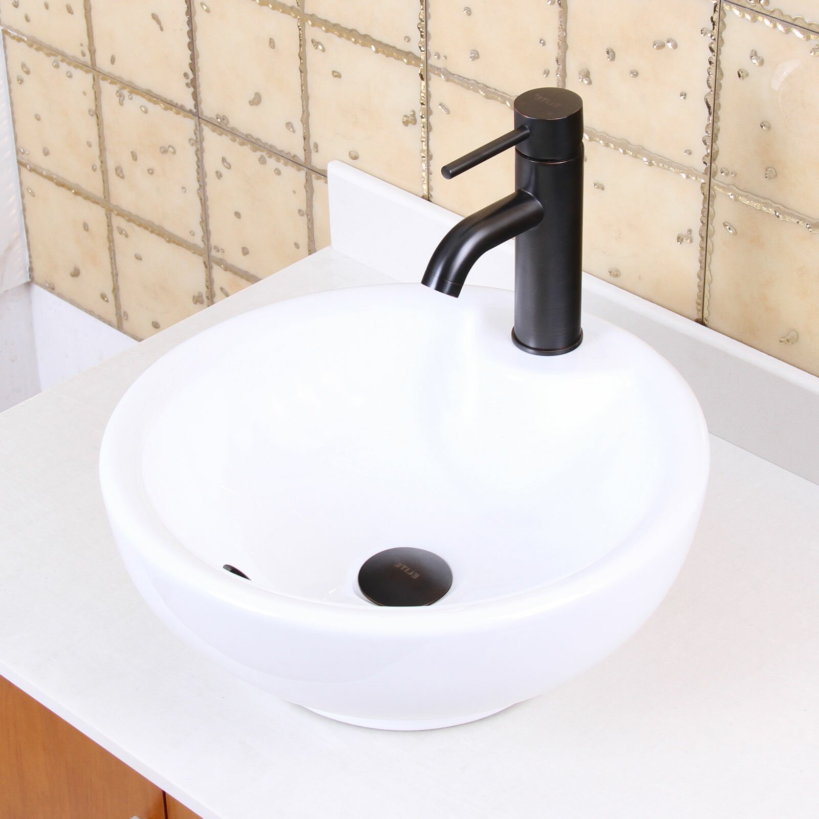 Elite Single Handle Bathroom Sink Faucet with Horizontal Dip Tip Spout ...