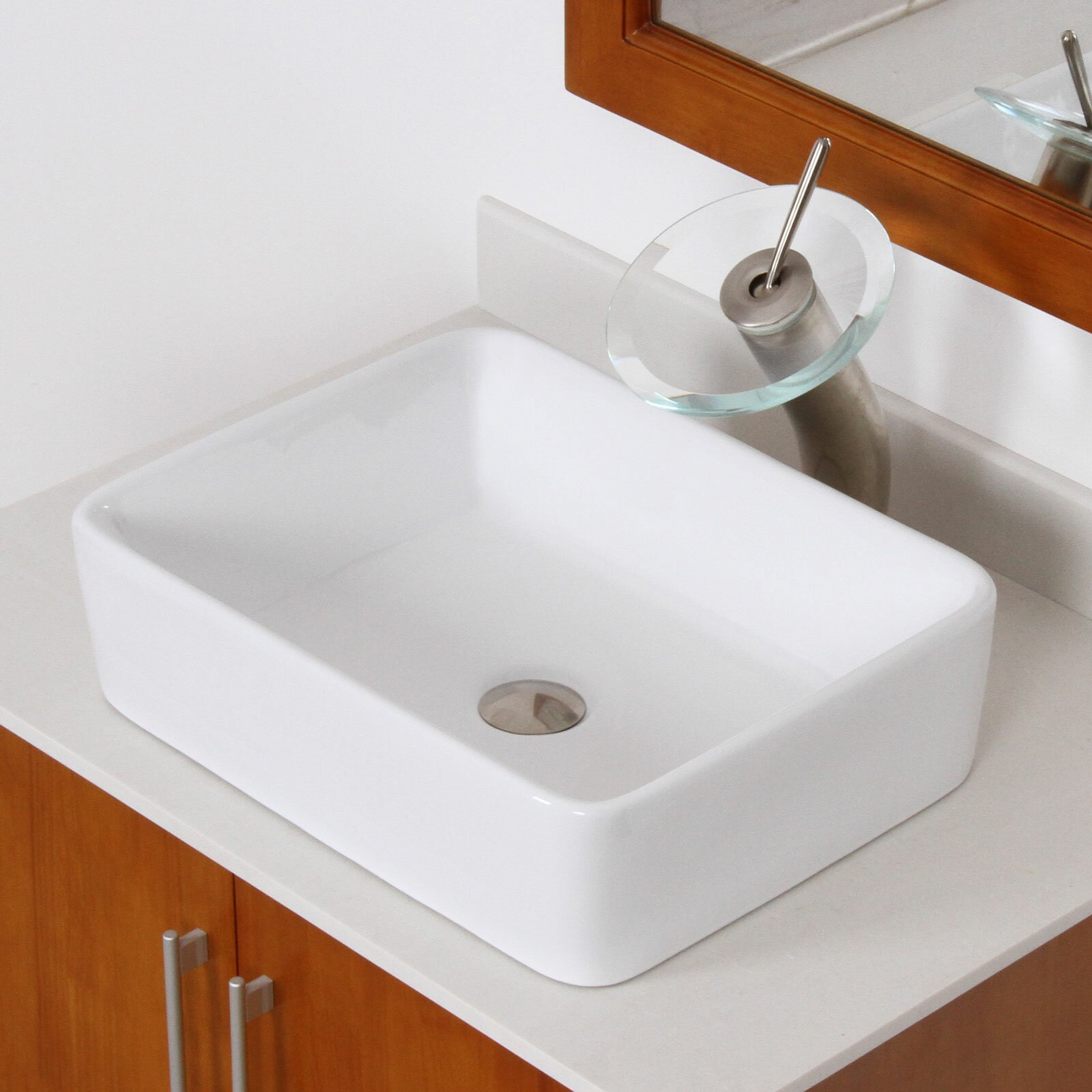 Rectangular Bathroom Sinks Elite Ceramic Rectangular Vessel Bathroom Sink Reviews Wayfair