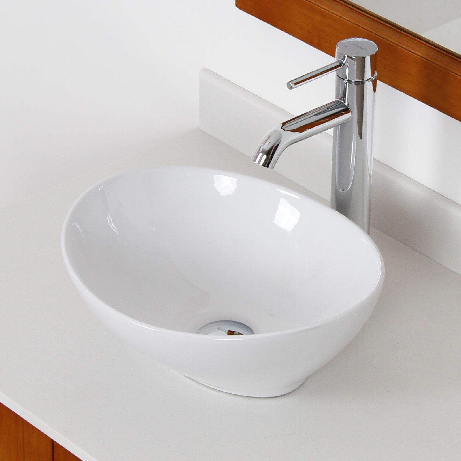 Elite Bathroom Sinks : Elite Ceramic Oval Vessel Bathroom Sink & Reviews Wayfair.ca