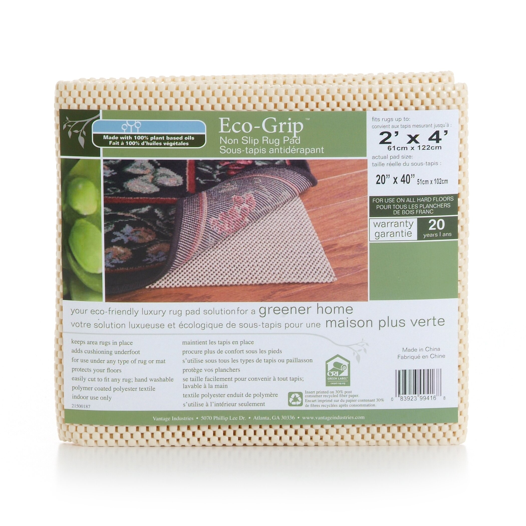 rug pads c cushioned kitchen floor mats Eco Grip Non Slip Rug Pad