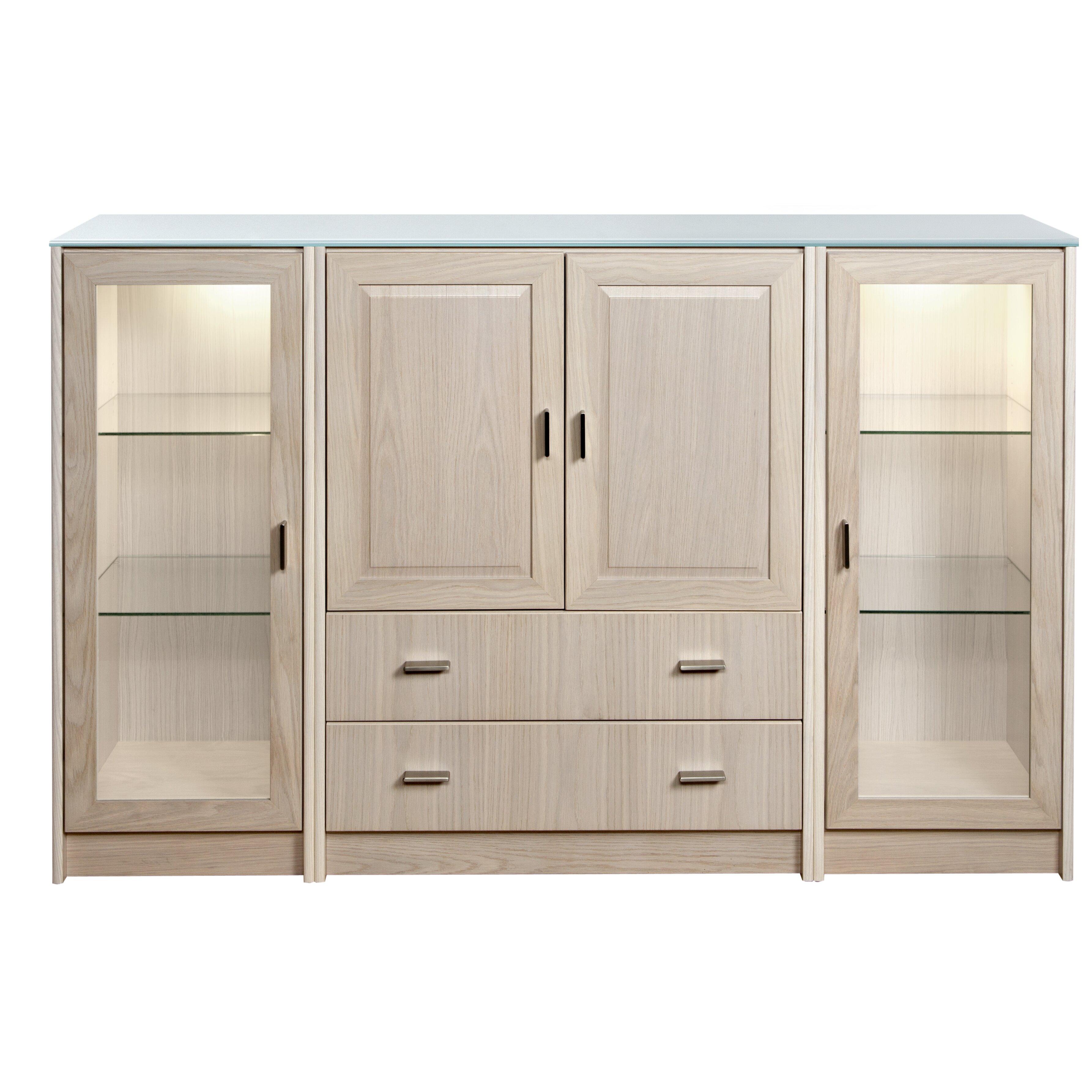 Dcor design regal 4 door 2 drawer sideboard for Sideboard regal