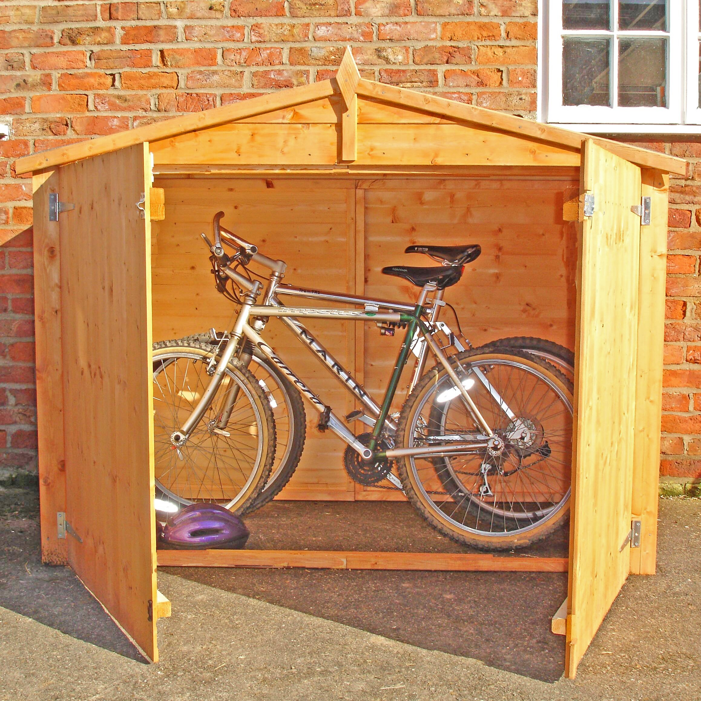 dcor design 7 x 3 wooden bike shed. Black Bedroom Furniture Sets. Home Design Ideas