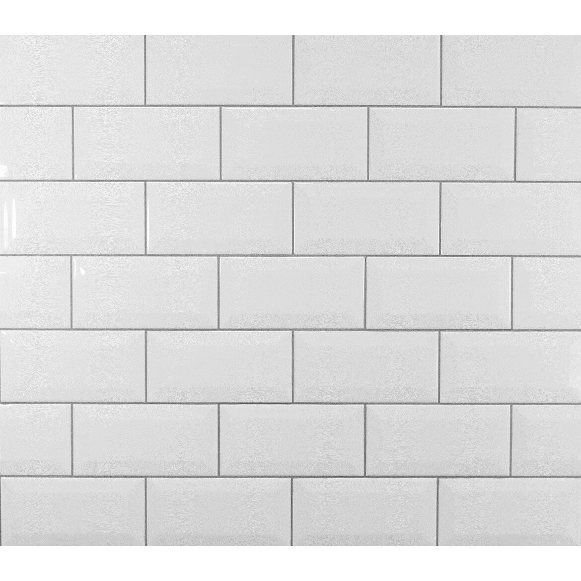 Classic Beveled Ceramic Subway Tile in White  amp  Reviews   AllModern