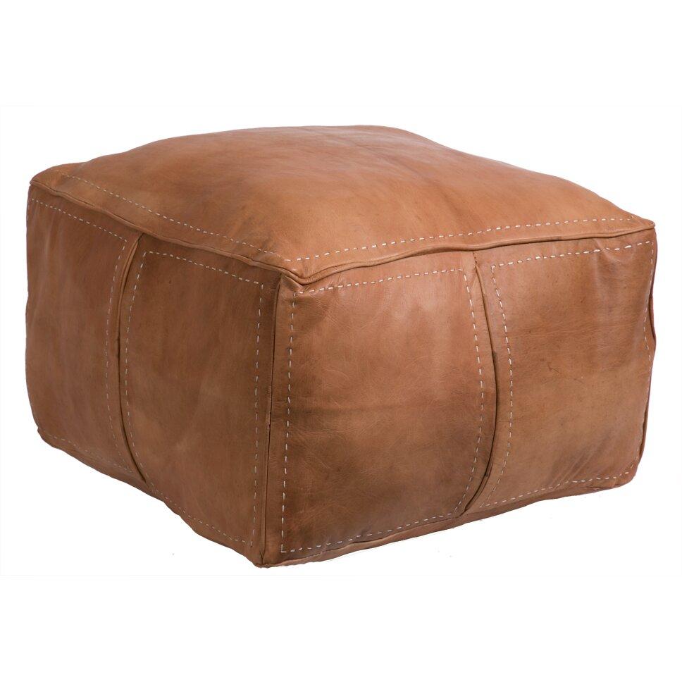 Casablanca Market Moroccan Pouf Leather Ottoman & Reviews ...