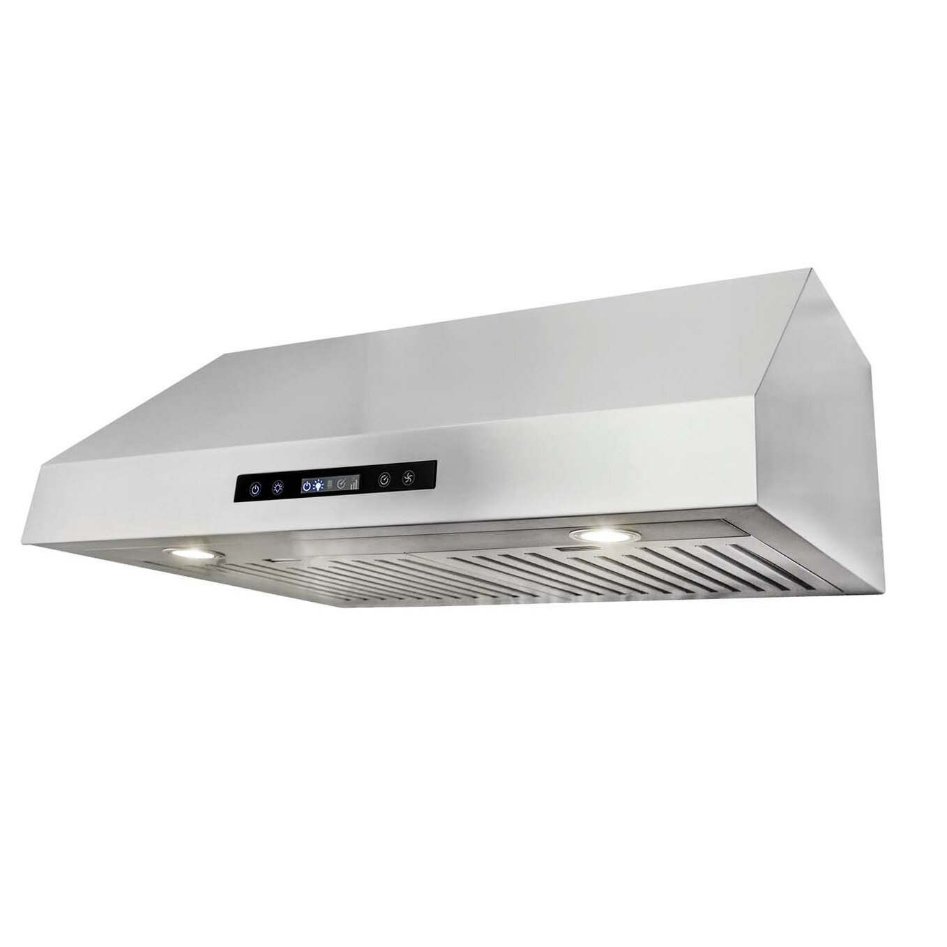 cosmo 30 750 cfm ducted under cabinet range hood in stainless steel reviews wayfair. Black Bedroom Furniture Sets. Home Design Ideas