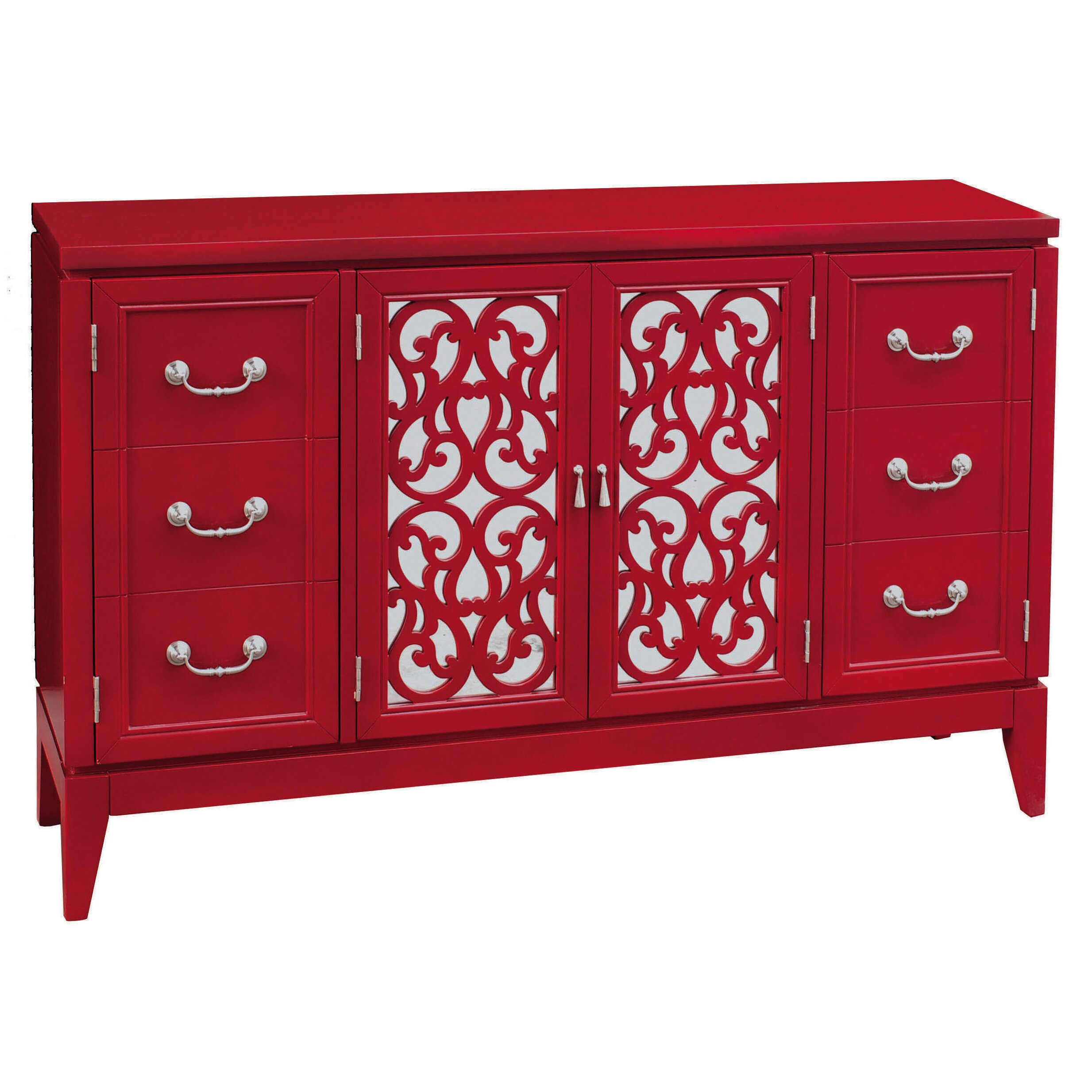 Pulaski console 4 door cabinet reviews for Furniture 2 day shipping