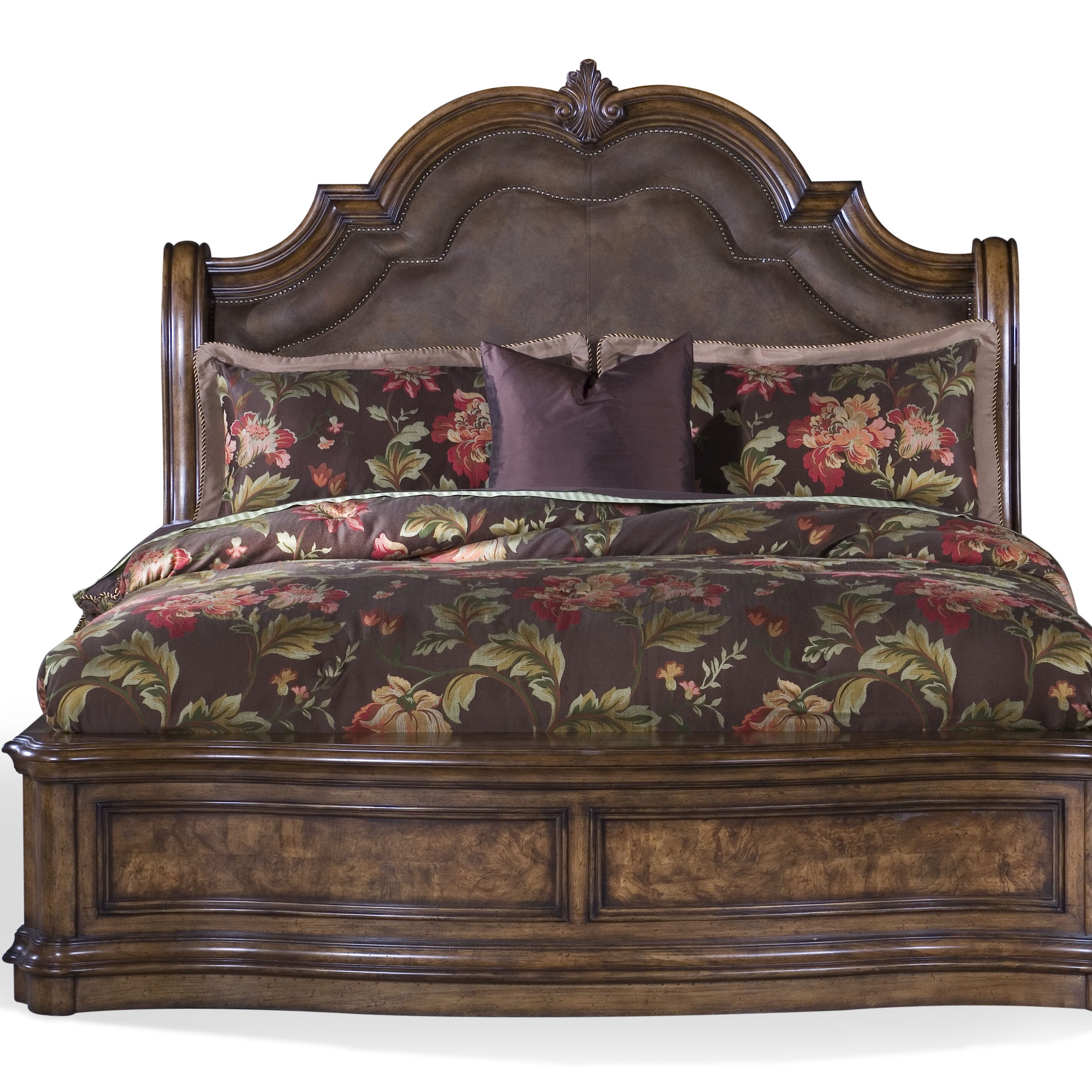 San Mateo Bedroom Furniture Pulaski San Mateo Upholstered Panel Bed Reviews Wayfair