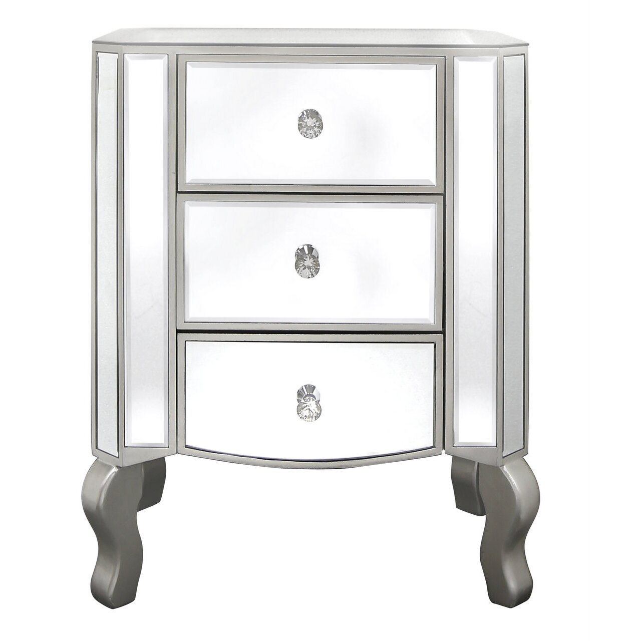 castleton home 3 drawer bedside table reviews wayfair. Black Bedroom Furniture Sets. Home Design Ideas