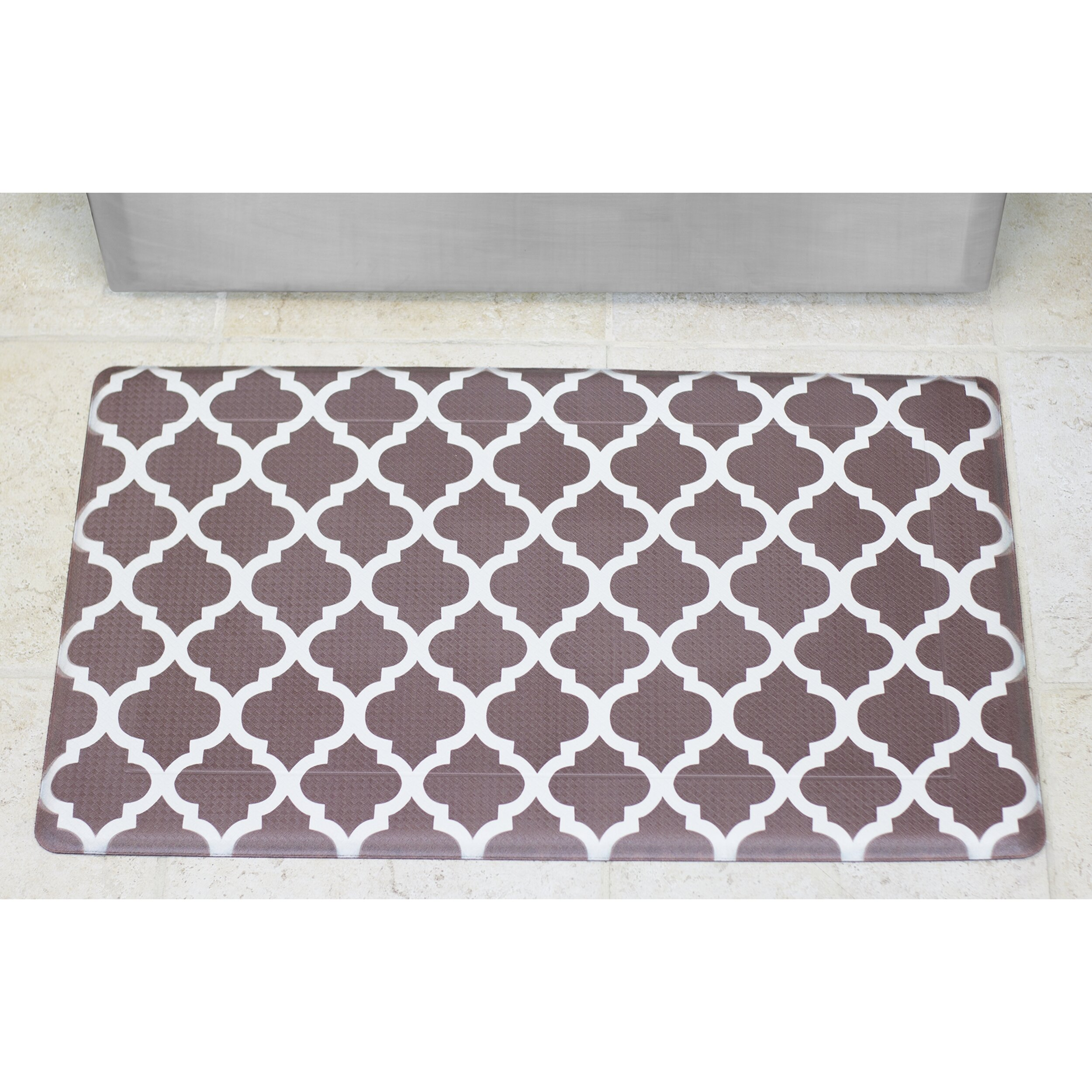 Anti Fatigue Kitchen Floor Mat Chef Gear Comfort Quatrefoil Anti Fatigue Kitchen Mat Reviews