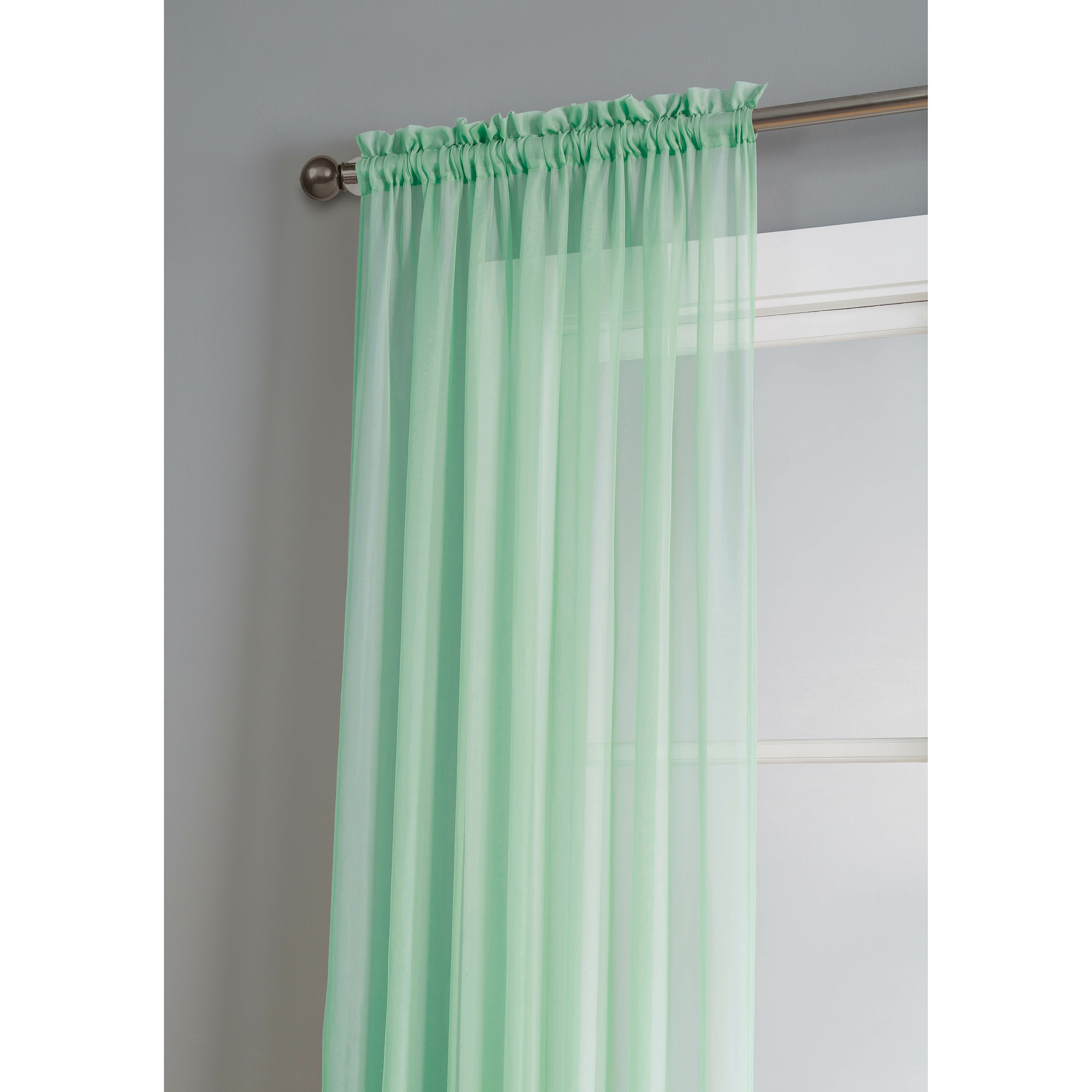window elements diamond sheer voile extra wide rod pocket single curtain panel reviews wayfair. Black Bedroom Furniture Sets. Home Design Ideas