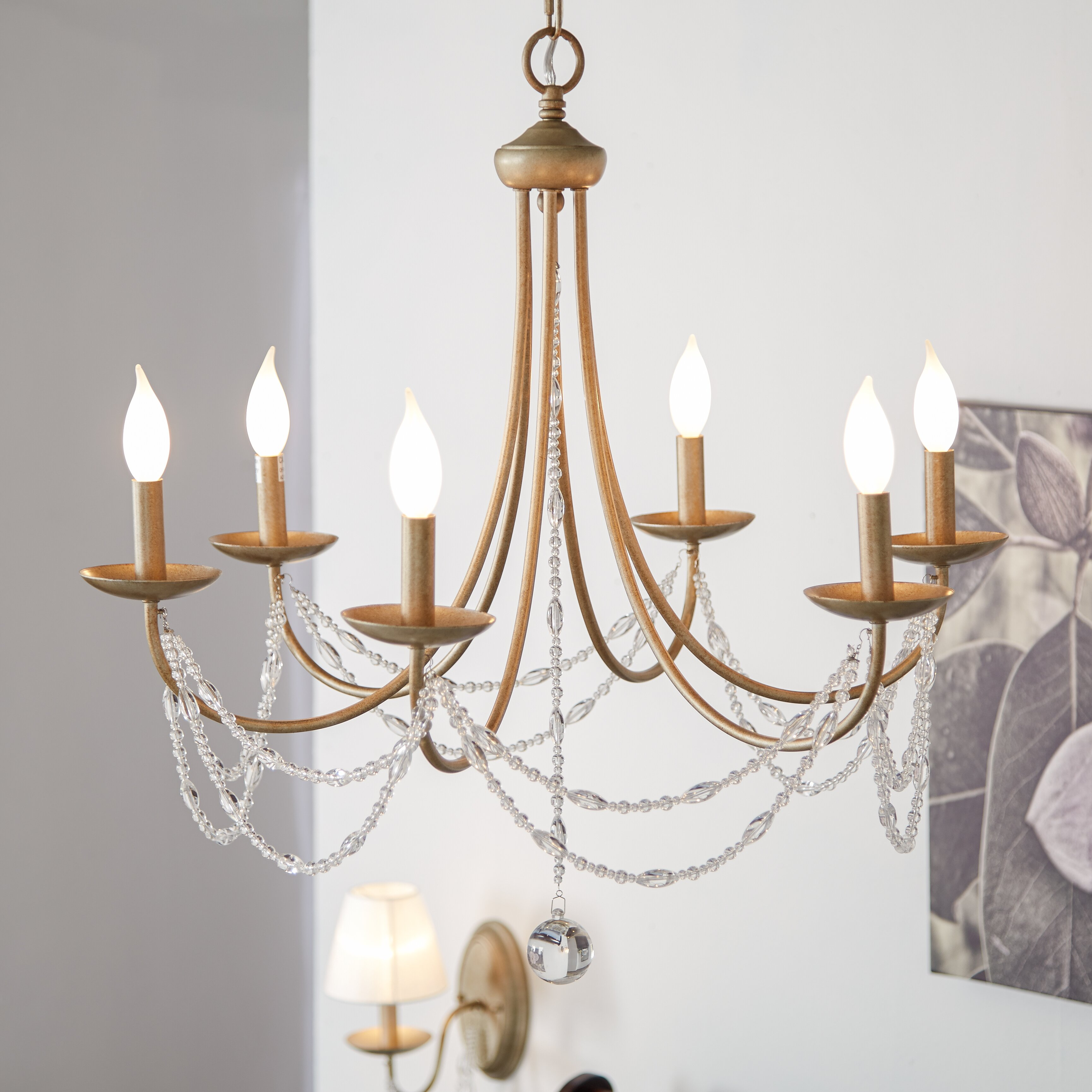 Three Posts Atwood 6-Light Candle-Style Chandelier