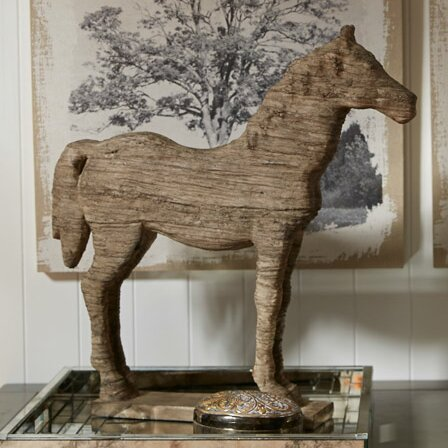 Three Posts Wesley Horse Table Decor Statue & Reviews | Wayfair