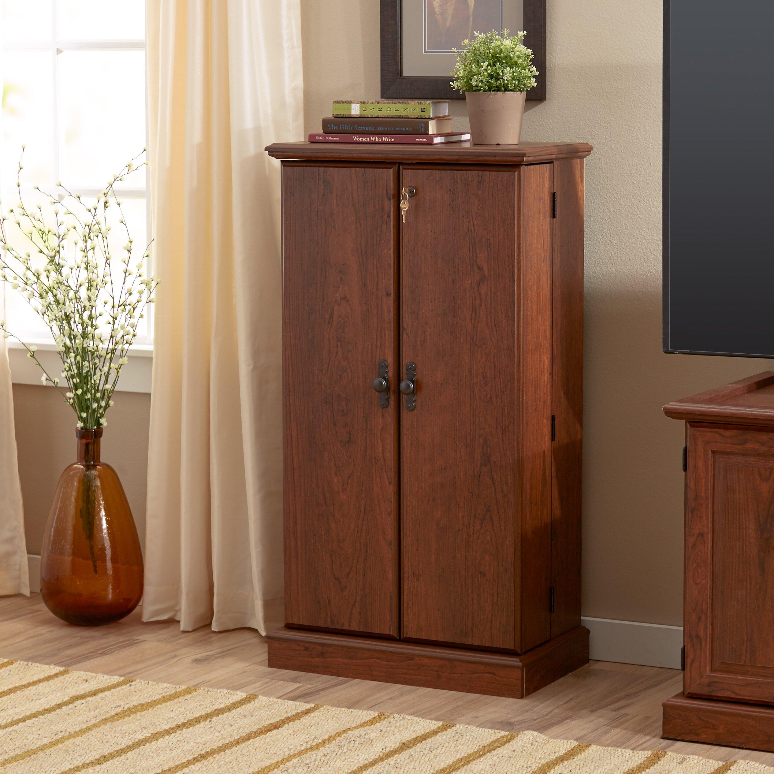 Three Posts 2 Door Traditional Cherry Storage Cabinet Reviews