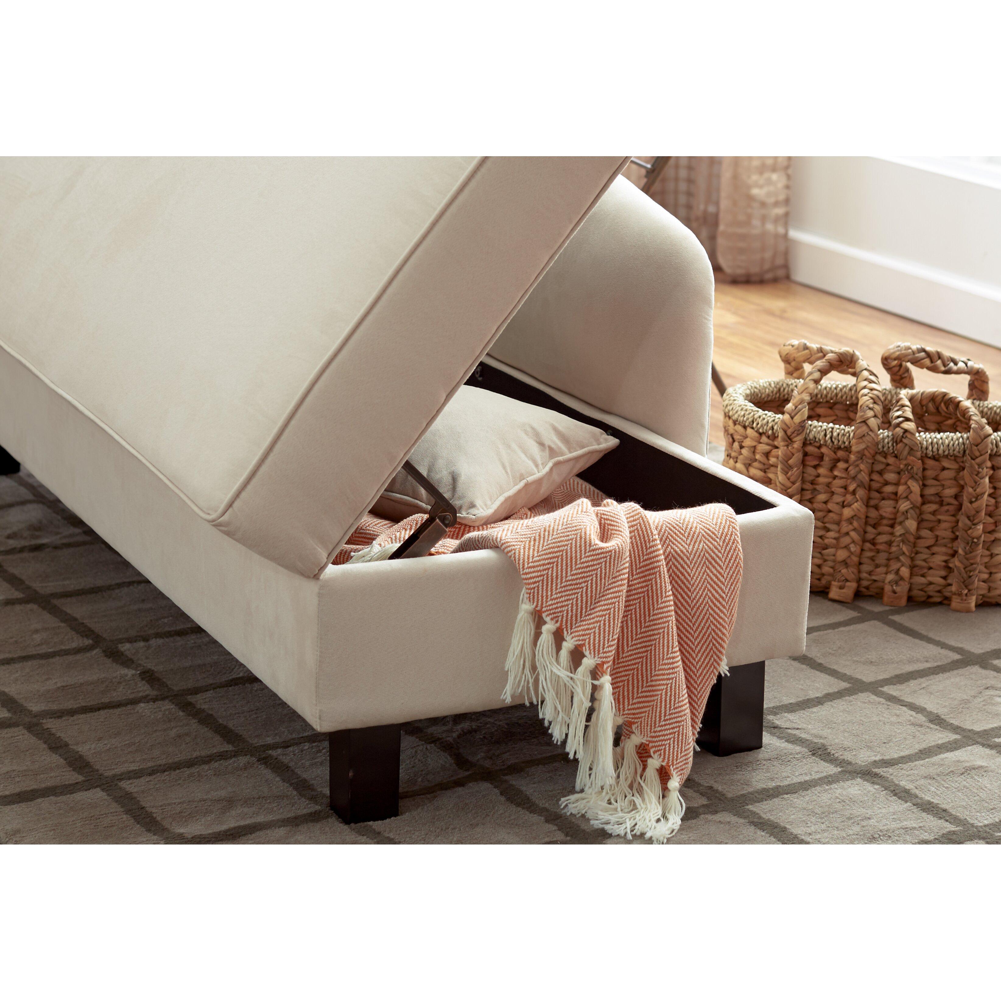Three Posts Verona Storage Chaise Lounge Amp Reviews