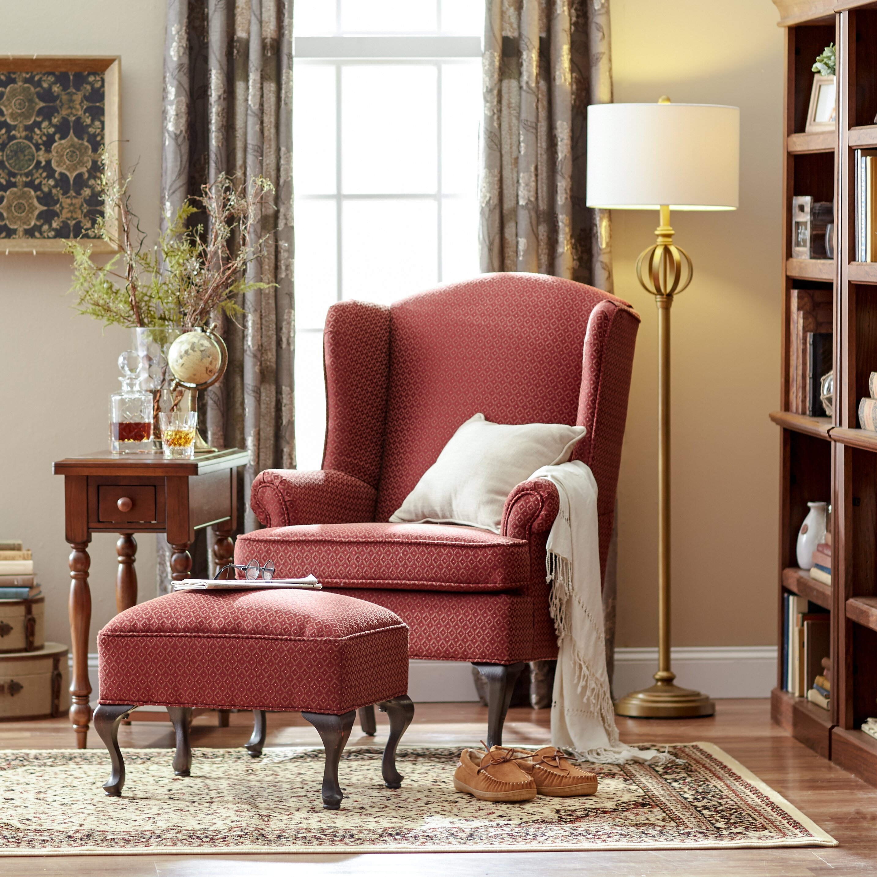 Wing Chairs For Living Room Three Posts Palmdale Wingback Chair Reviews Wayfairca