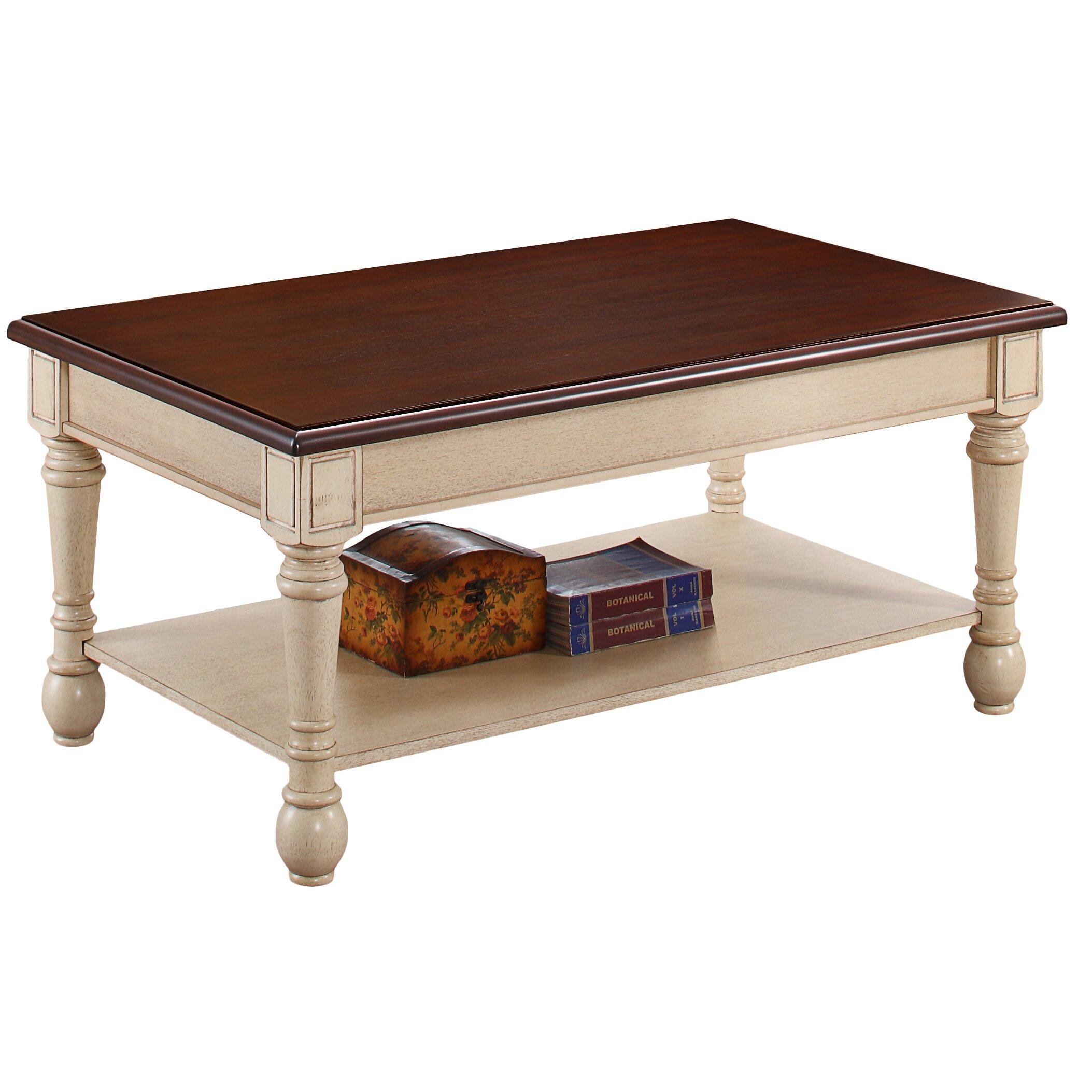 Coffee Table Stool Three Posts Classic Two Tone Coffee Table Reviews Wayfair