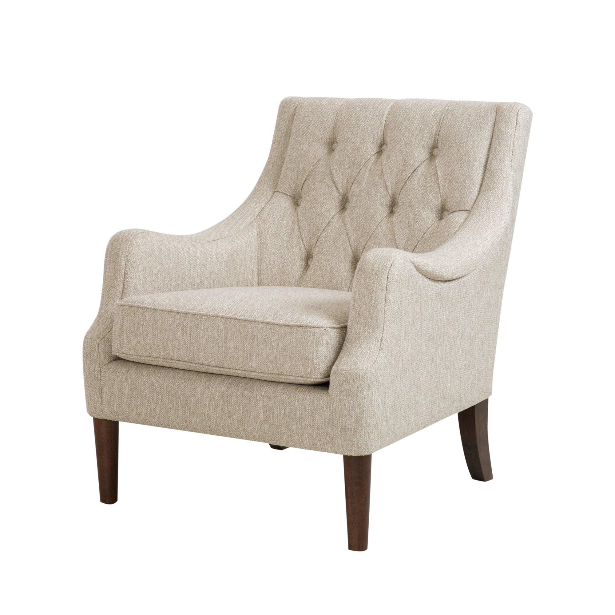 Three Posts Rogersville Button Tufted Arm Chair Amp Reviews Wayfair