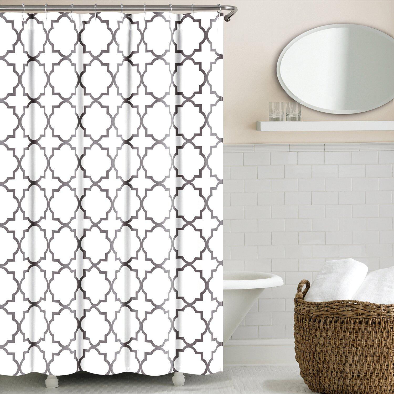 Three Posts Prattsburgh Cotton Shower Curtain  Reviews Wayfair - Shower curtain