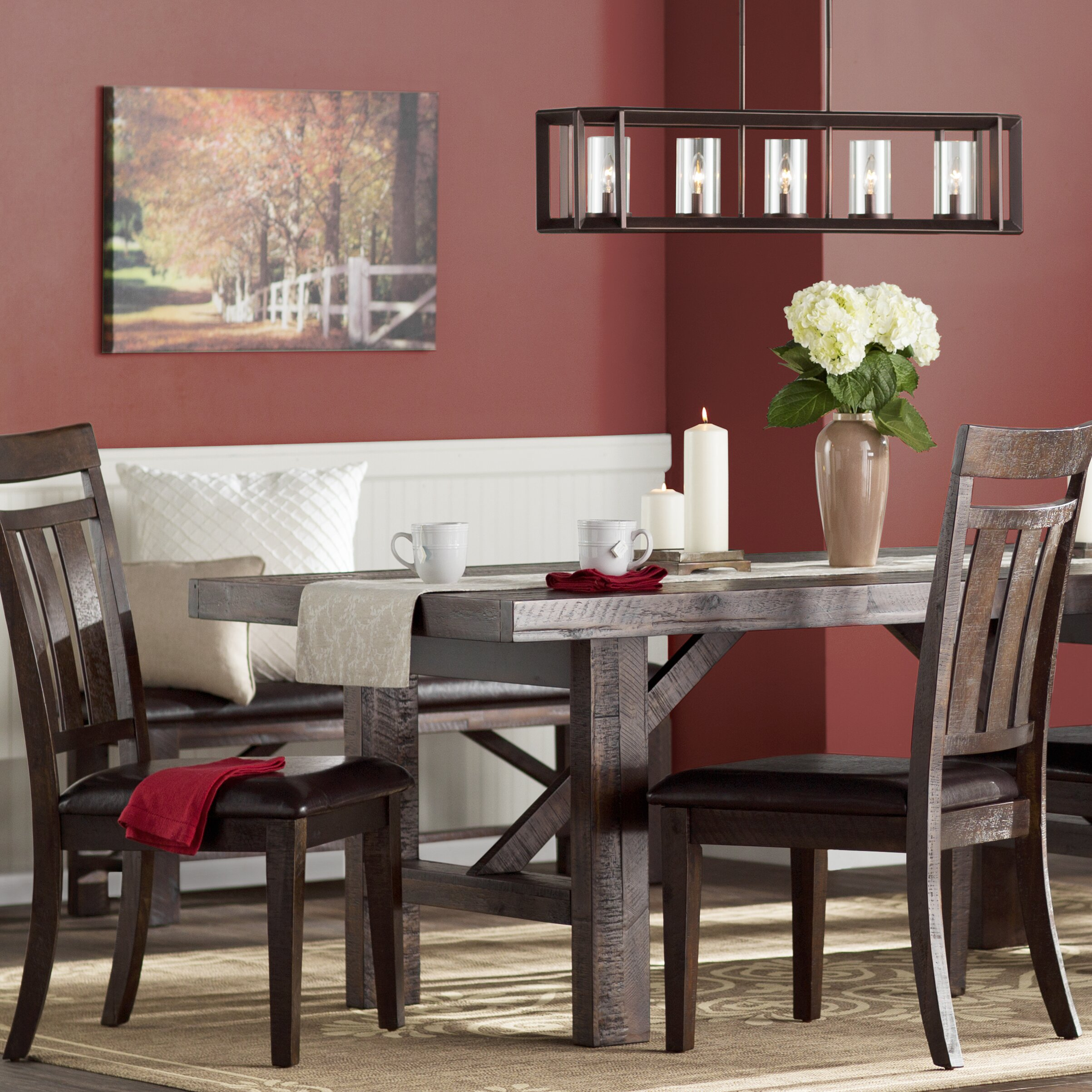 Apple Valley Kitchen Cabinets Three Posts Apple Valley Dining Table Reviews Wayfair