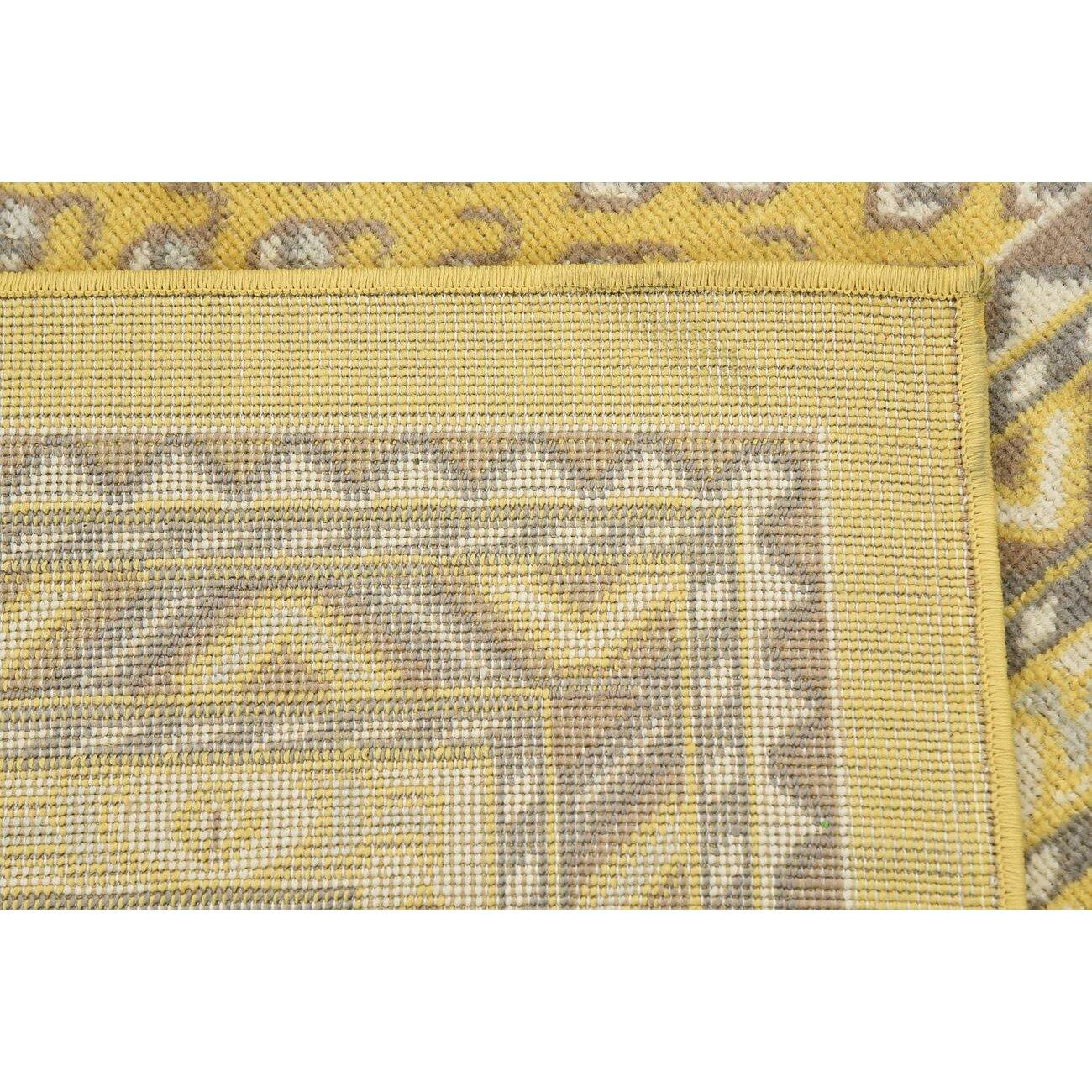Yellow Area Rug Home Decor