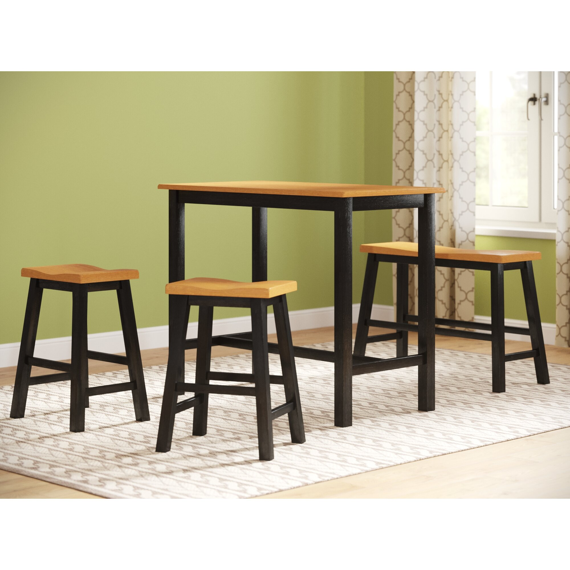 Counter Height Bistro Table Set Three Posts Lamantia 4 Piece Counter Height Pub Table Set