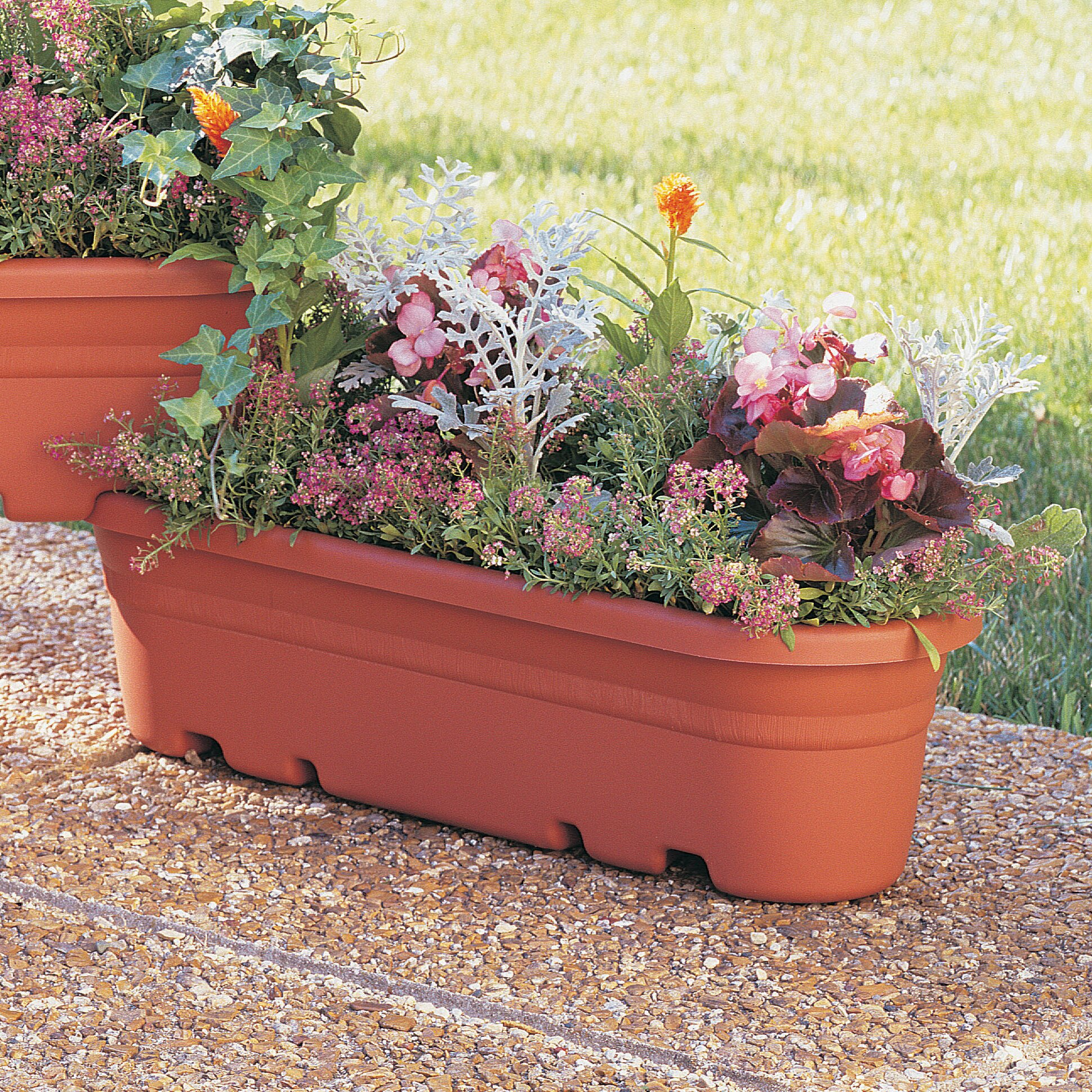 Three posts griswold plastic planter box reviews for Wayfair garden box