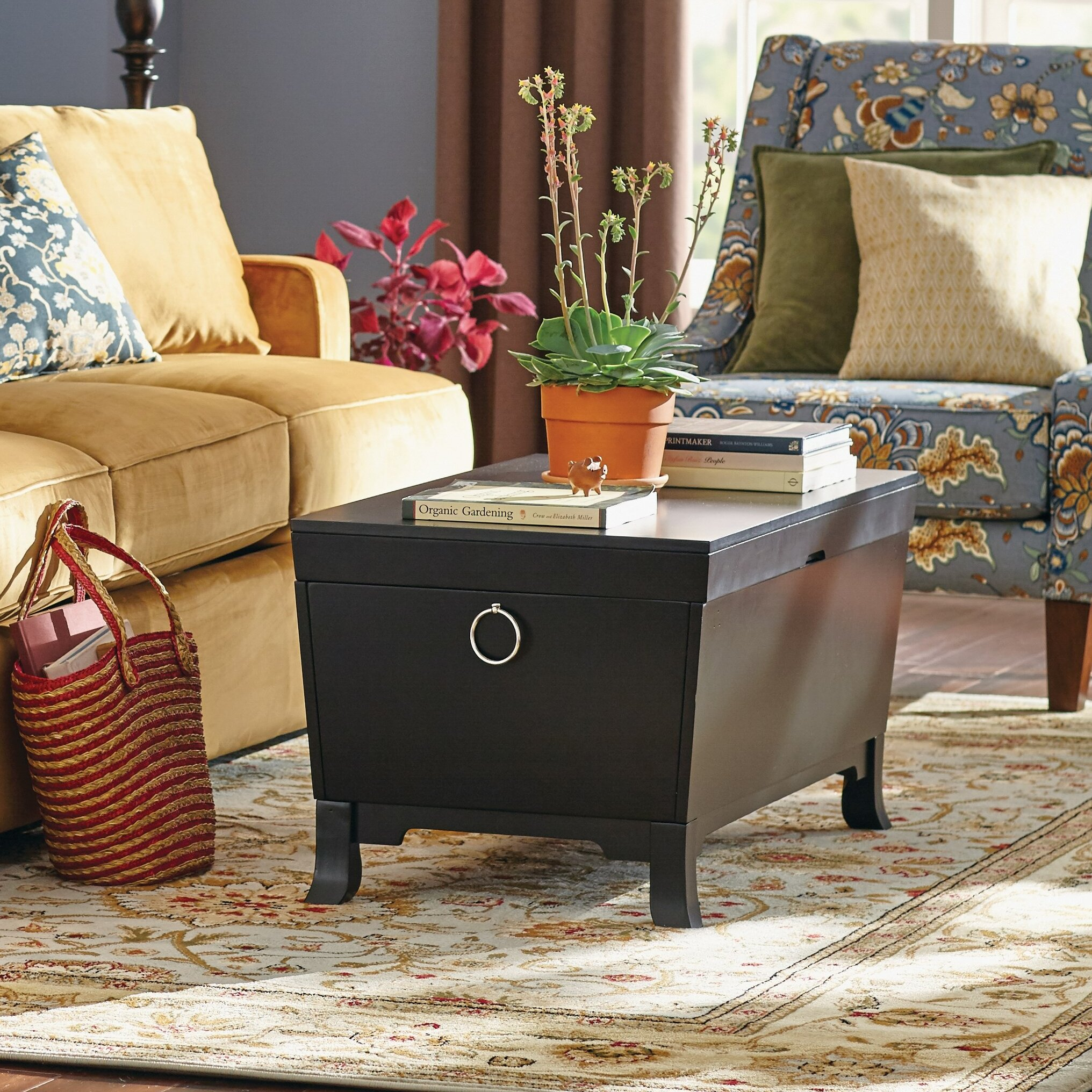 Barrett Trunk Coffee Table With Lift Top: Three Posts Orchard Park Trunk Coffee Table With Lift Top