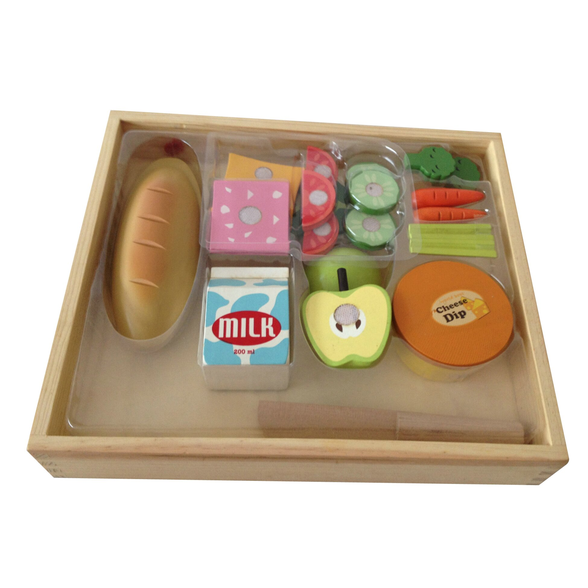 Play Food Set Toys : Berry toys piece casual wooden play food set wayfair