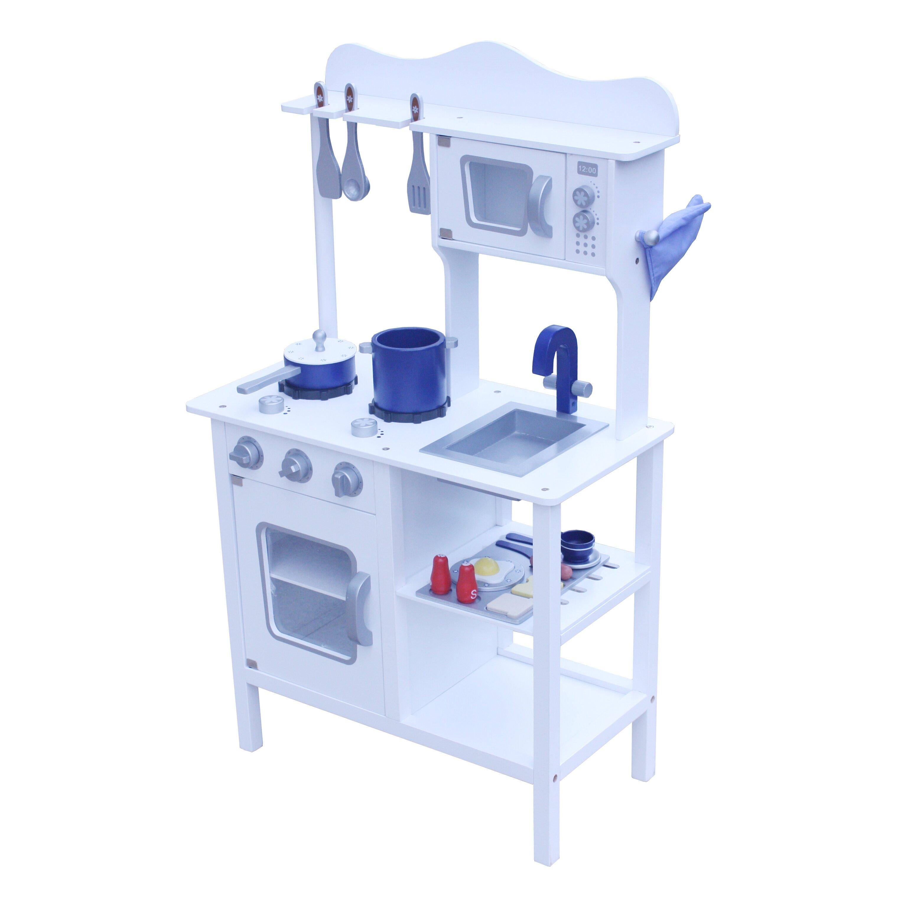 Blue Wooden Play Kitchen play kitchen ~ picgit