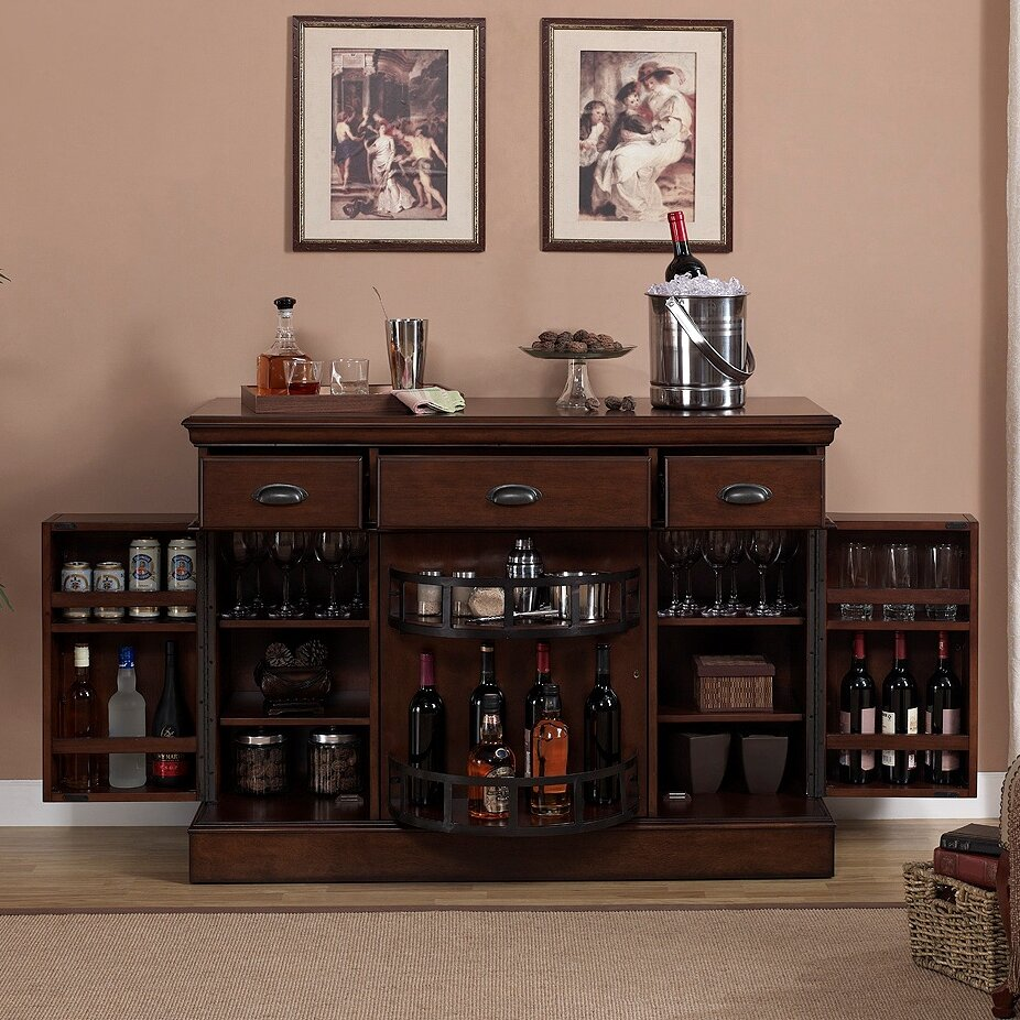 Wine Bar Storage Cabinet American Heritage Gabriella Bar Cabinet With Wine Storage