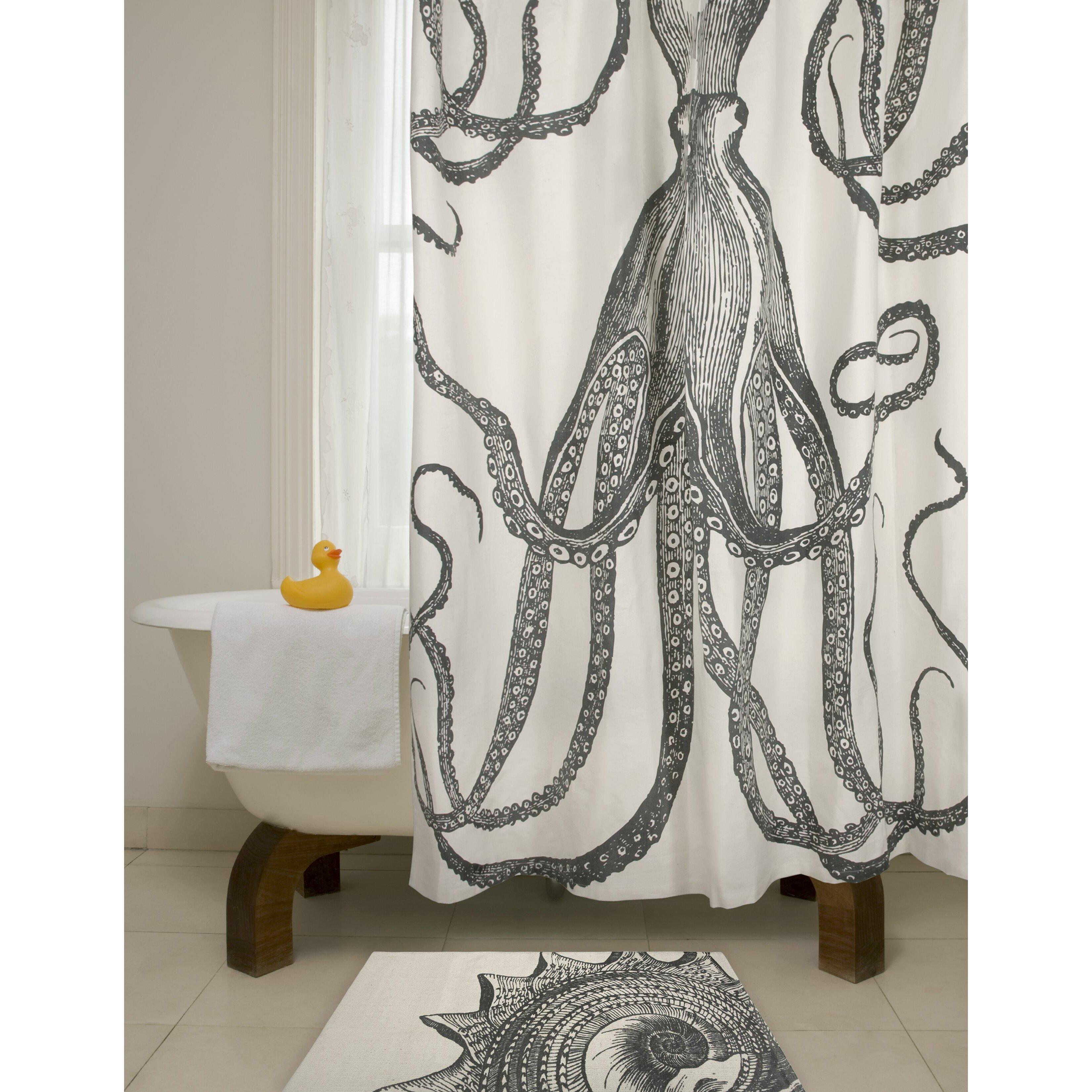 Bath Cotton Octopus Shower Curtain  Reviews AllModern - Shower curtain