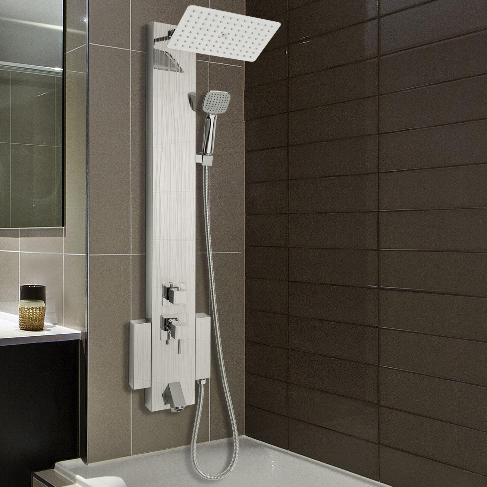 Akdy Tower Rainfall Shower Panel System Amp Reviews Wayfair Ca
