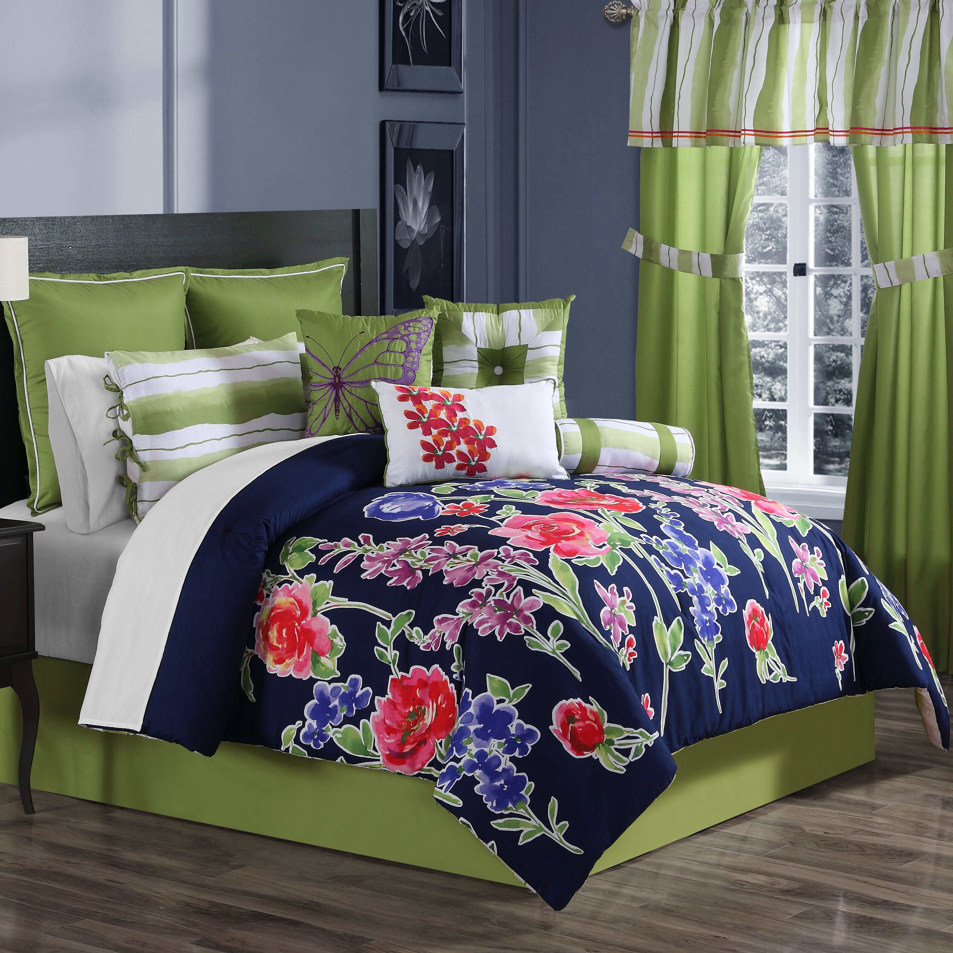 ellison first asia nadia 10 piece comforter set & reviews | wayfair