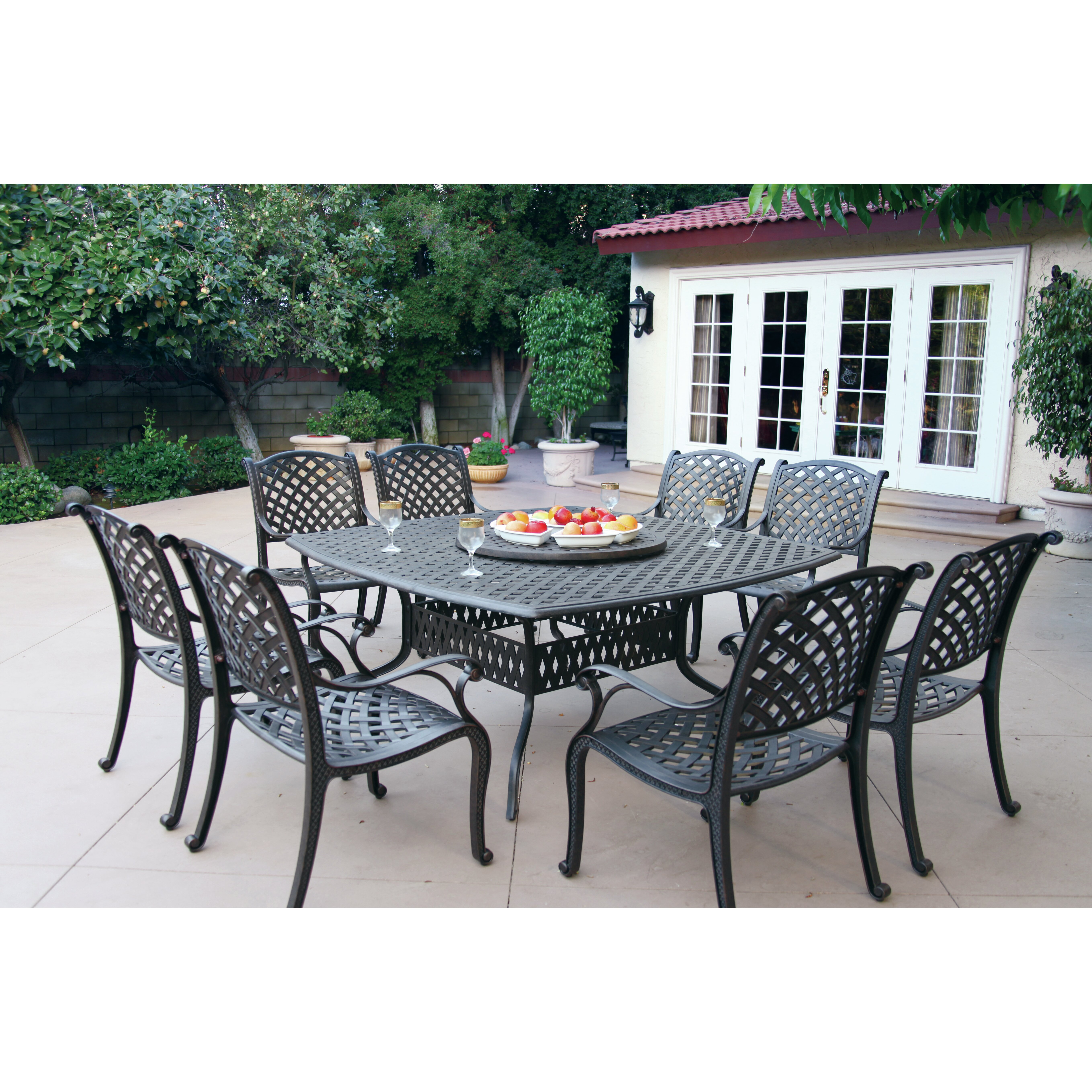 Darlee Nassau 10 Piece Dining Set With Cushion & Reviews