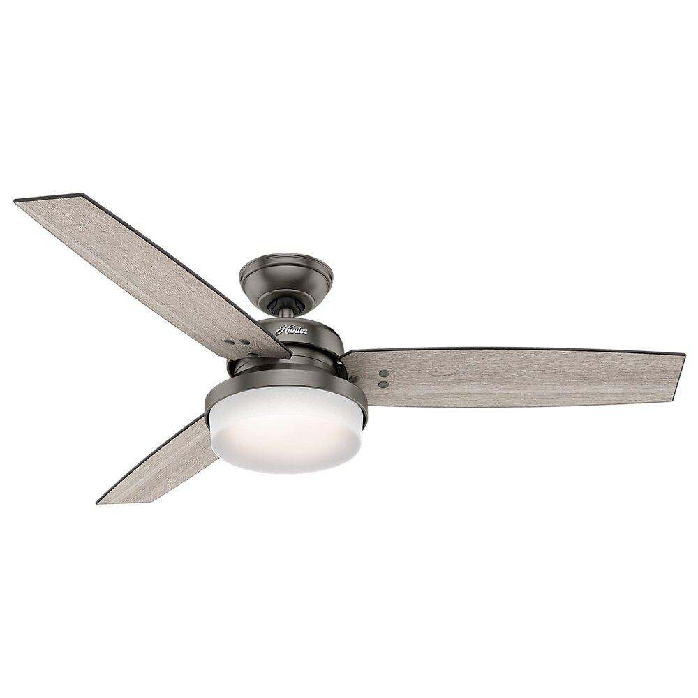 """Hunter Fan 52"""" Sentinel 3 Blade Ceiling Fan with Remote"""