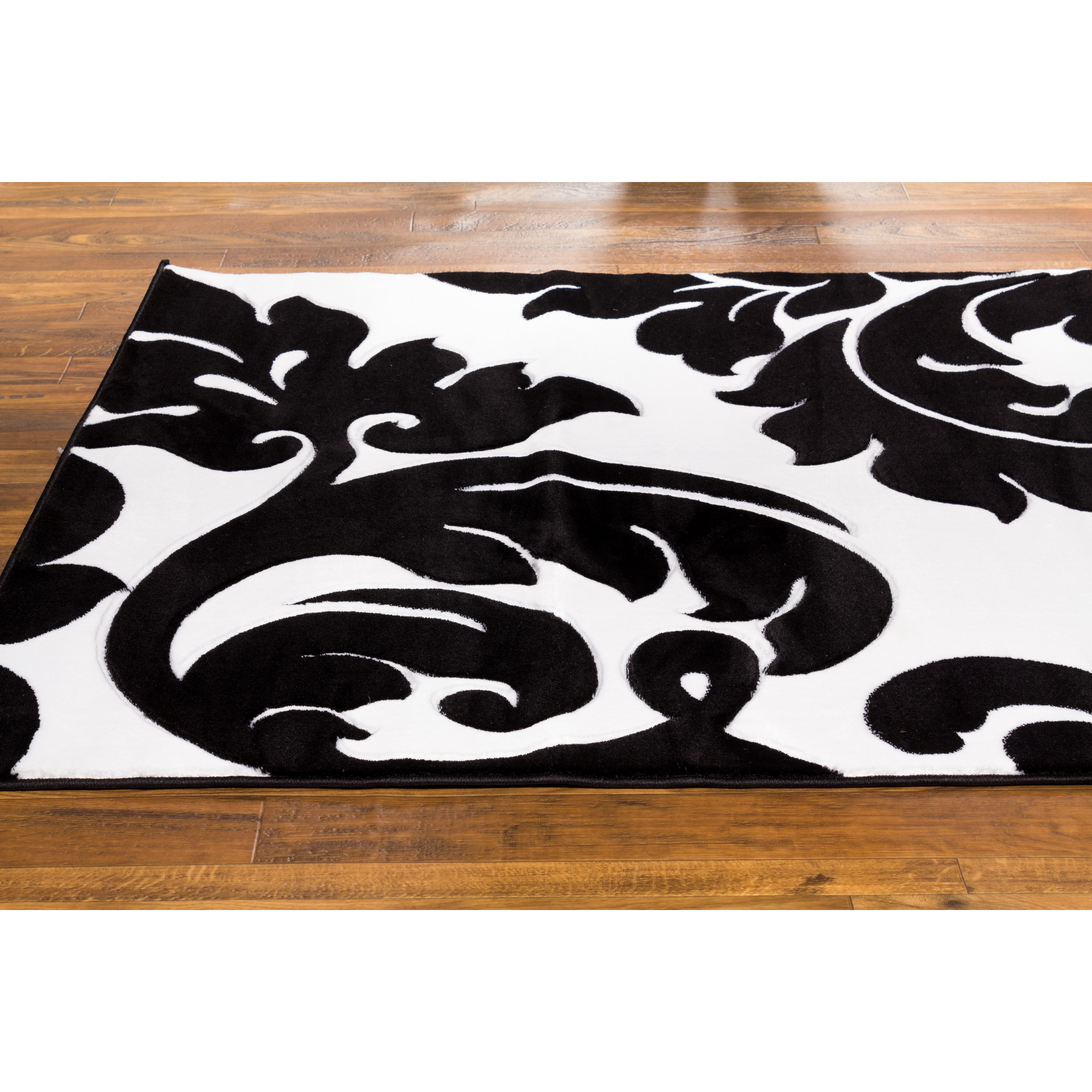 Black And Pink Bedroom Damask Area Rug Black And White Roselawnlutheran