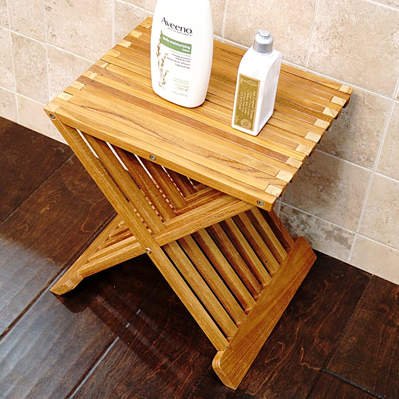 Welland industries llc folding teak shower seat reviews for Abanos furniture industries decoration llc