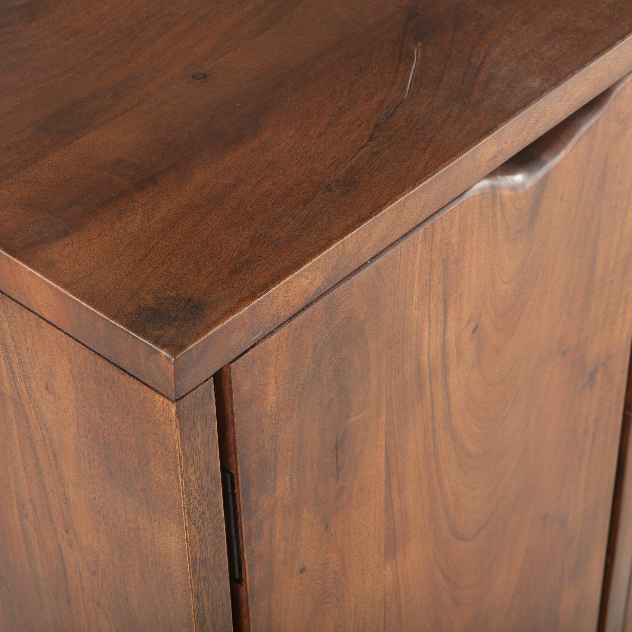 Belfrie acacia wood sideboard allmodern