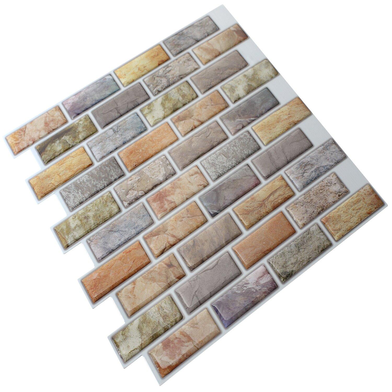 instant mosaic 12 x 12 epoxy peel stick mosaic tile in purple yellow reviews wayfair. Black Bedroom Furniture Sets. Home Design Ideas
