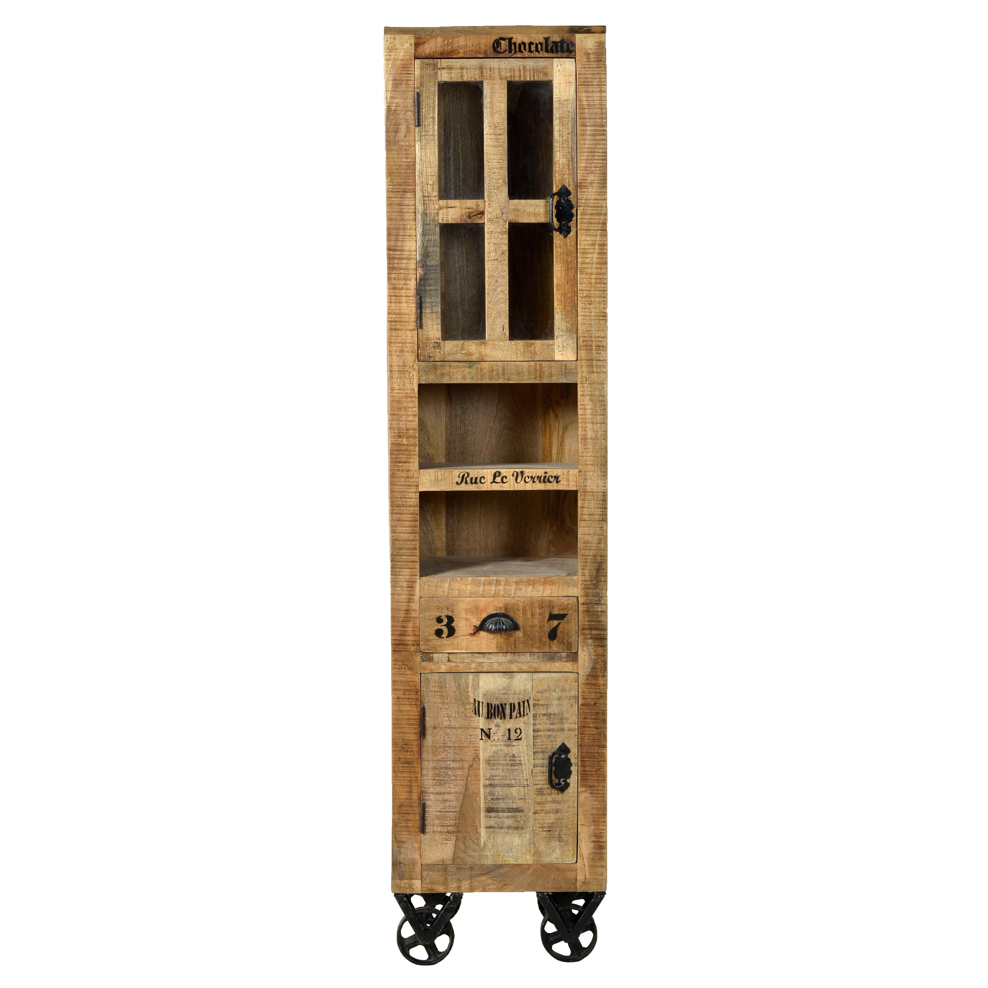 sit m bel rustic free standing tall bathroom cabinet. Black Bedroom Furniture Sets. Home Design Ideas