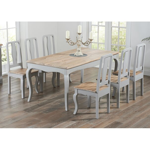Home Etc Miller Dining Table And 6 Chairs Wayfair Uk
