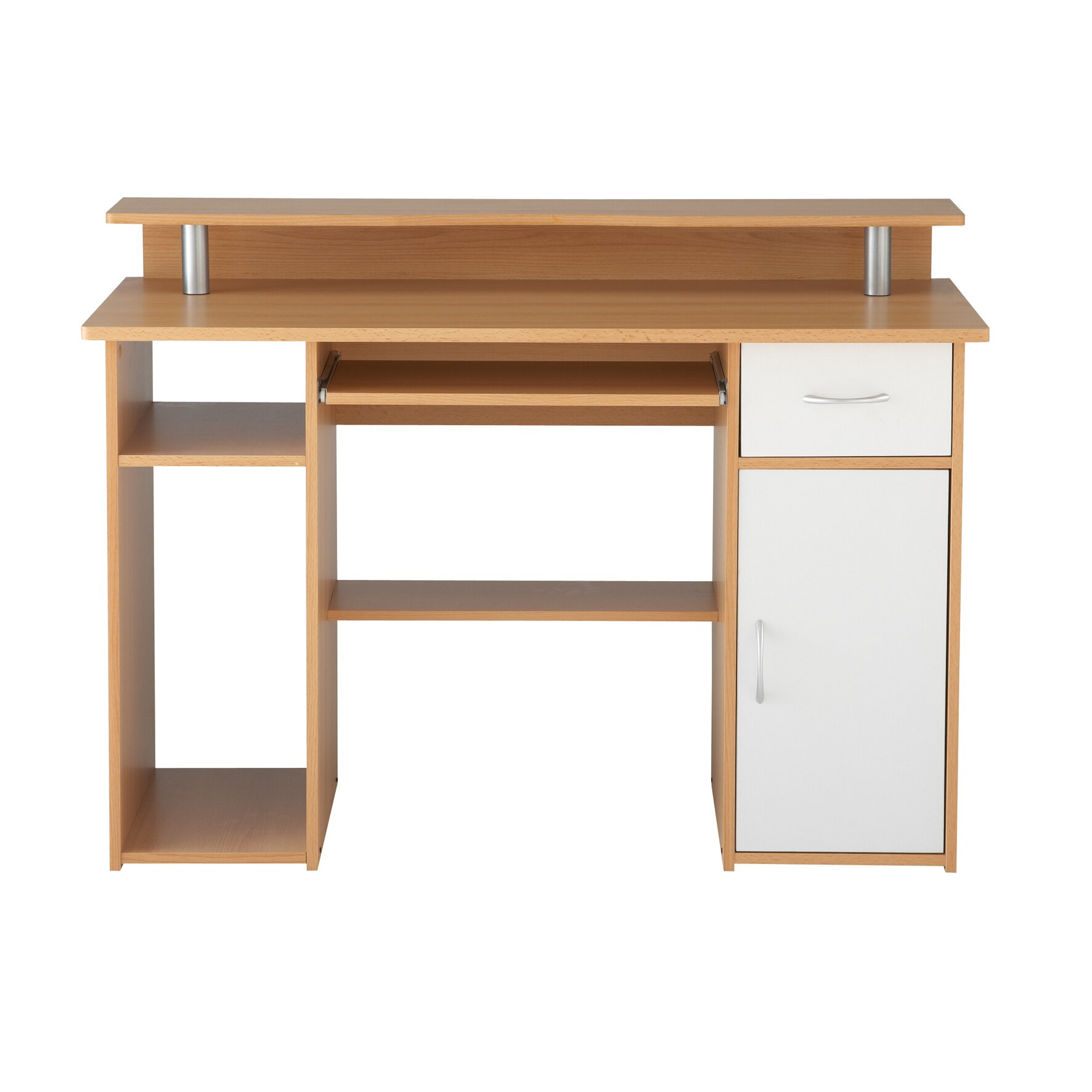 Home Etc Maxam Computer Desk With Keyboard Tray With 1