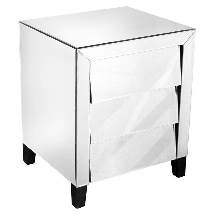 Home Essence 3 Drawer Bedside Table Wayfair Uk