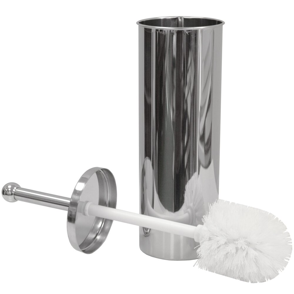 House additions free standing toilet roll and brush holder Glass toilet roll holder