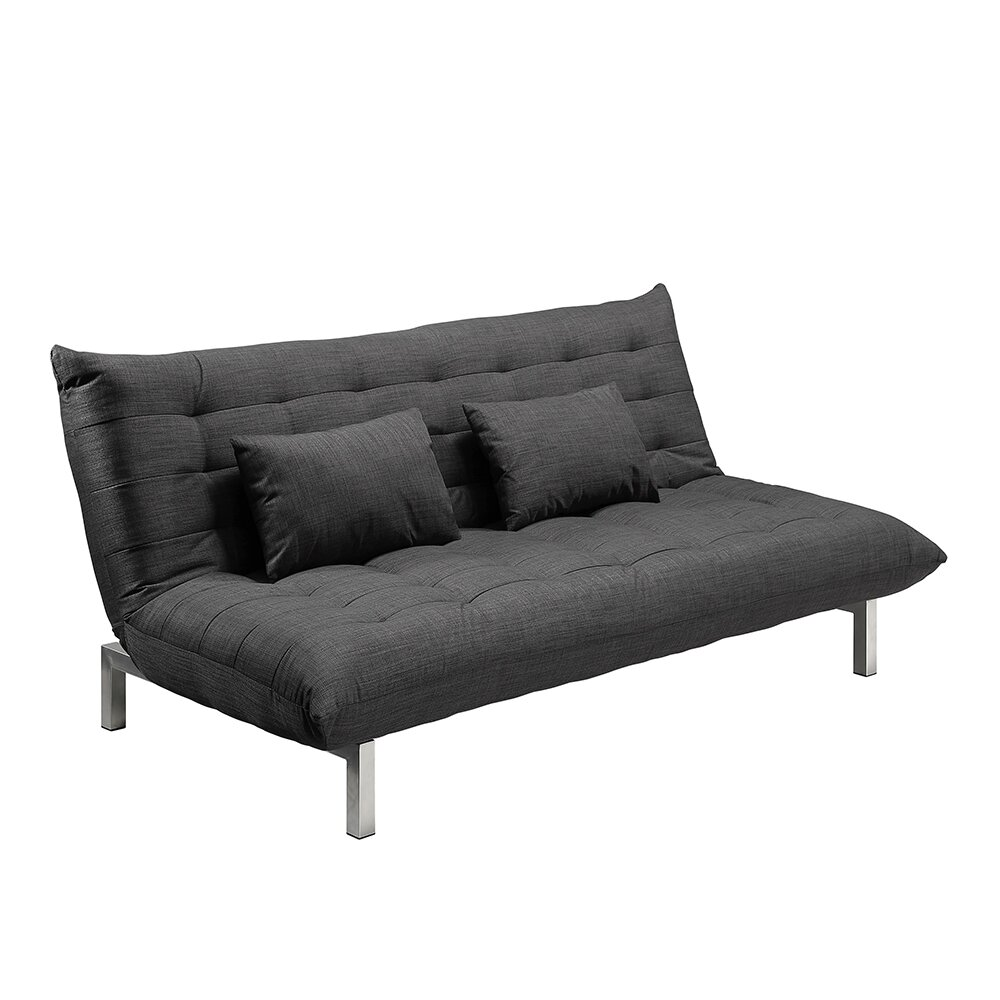Home haus 3 seater clic clac sofa reviews wayfair uk - Clic clac housse ...